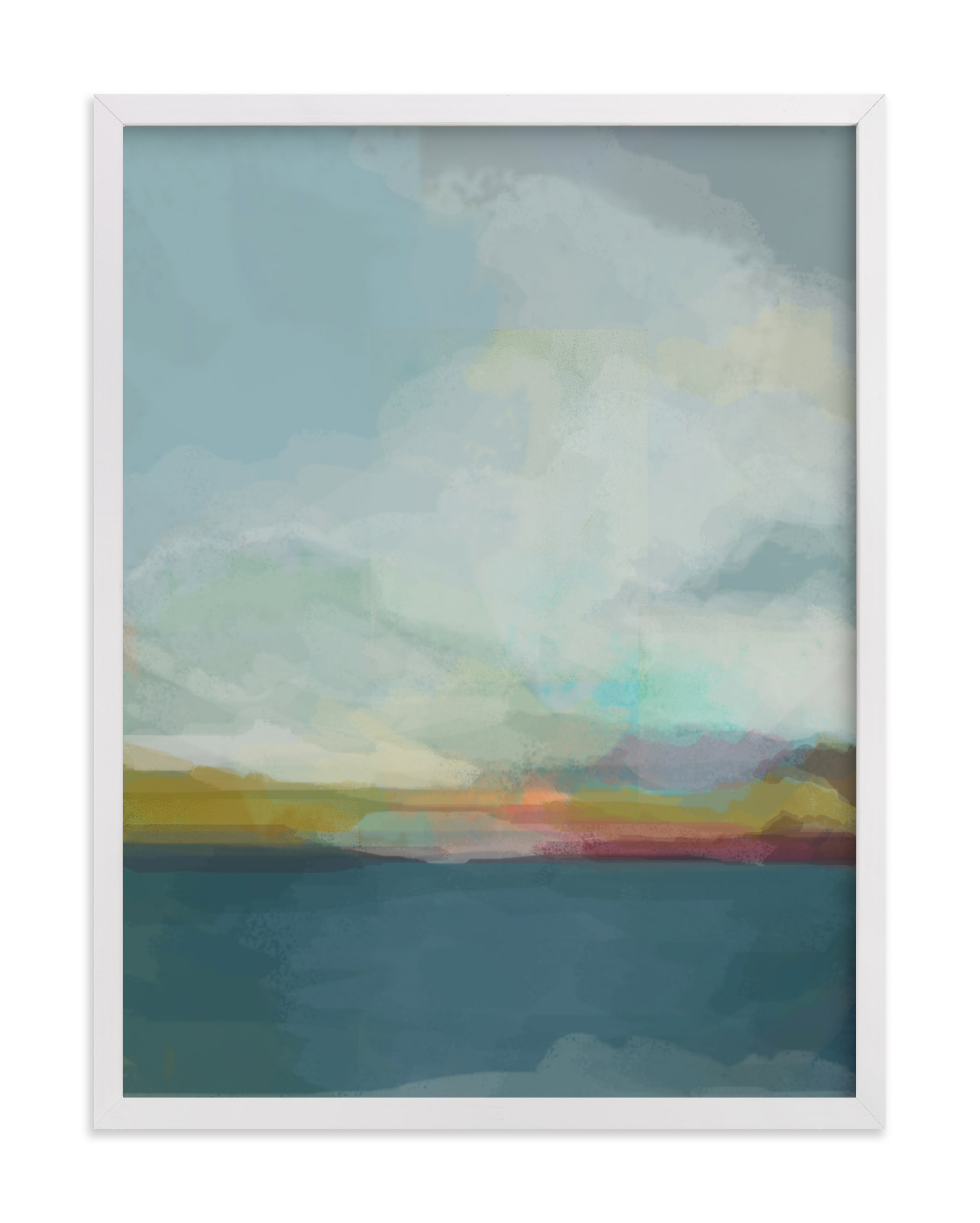 This is a blue art by Alison Jerry Designs called Morning Walk.