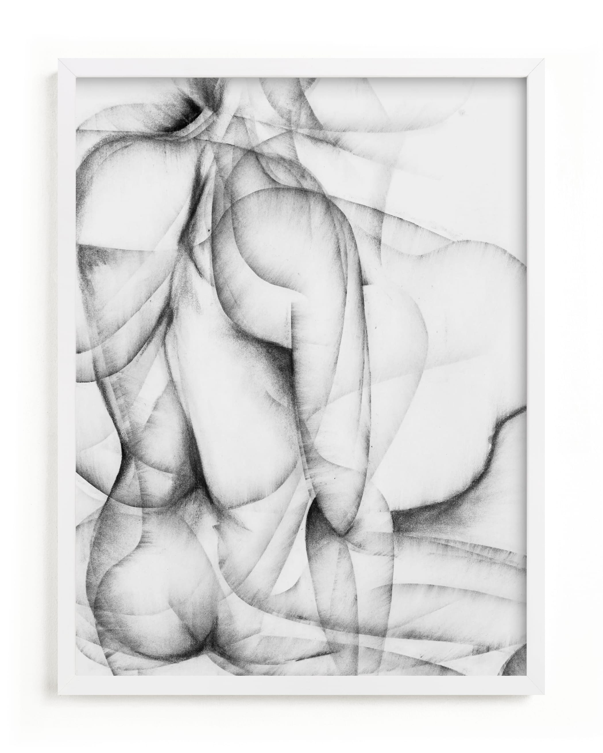 This is a black and white art by Karen Kaul called More Alike than Not.
