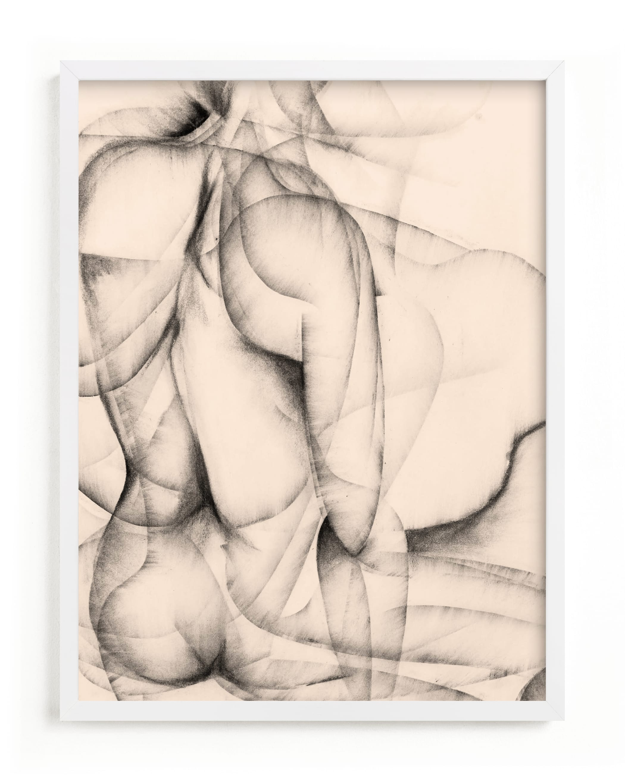 This is a grey art by Karen Kaul called More Alike than Not.