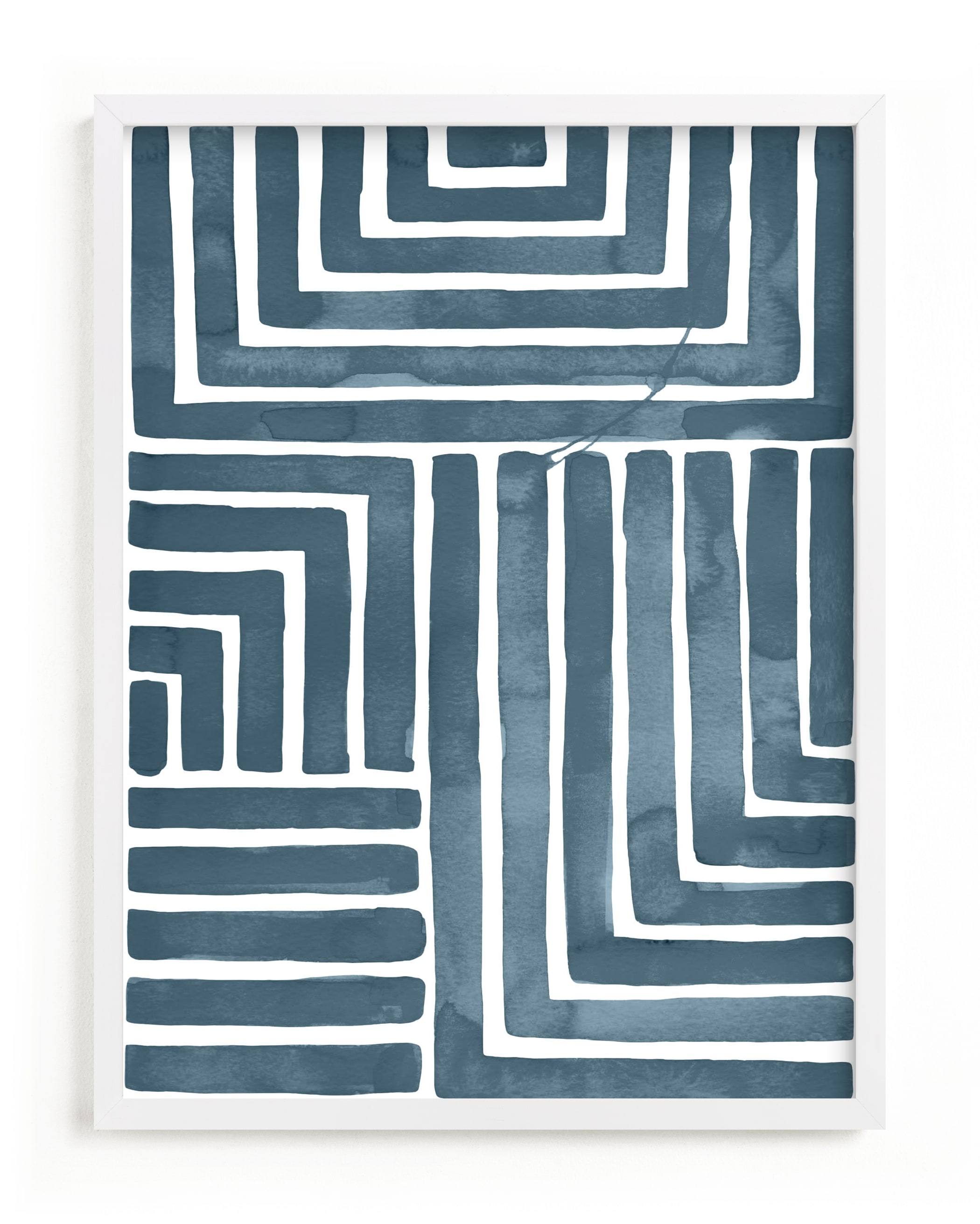 This is a blue art by Kristine Sarley called Hard & Soft.