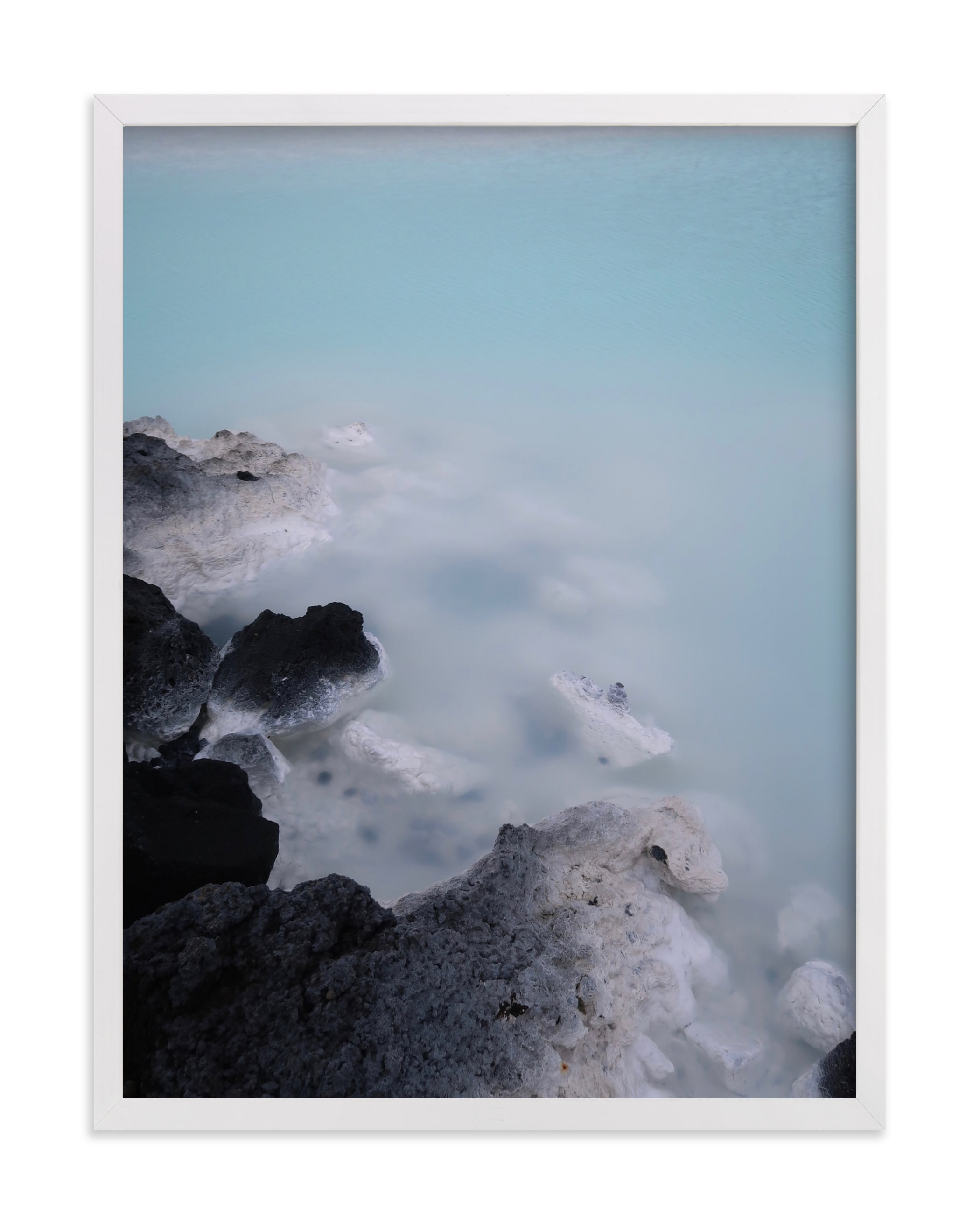 This is a blue art by Claire Duda called Minerals #2.