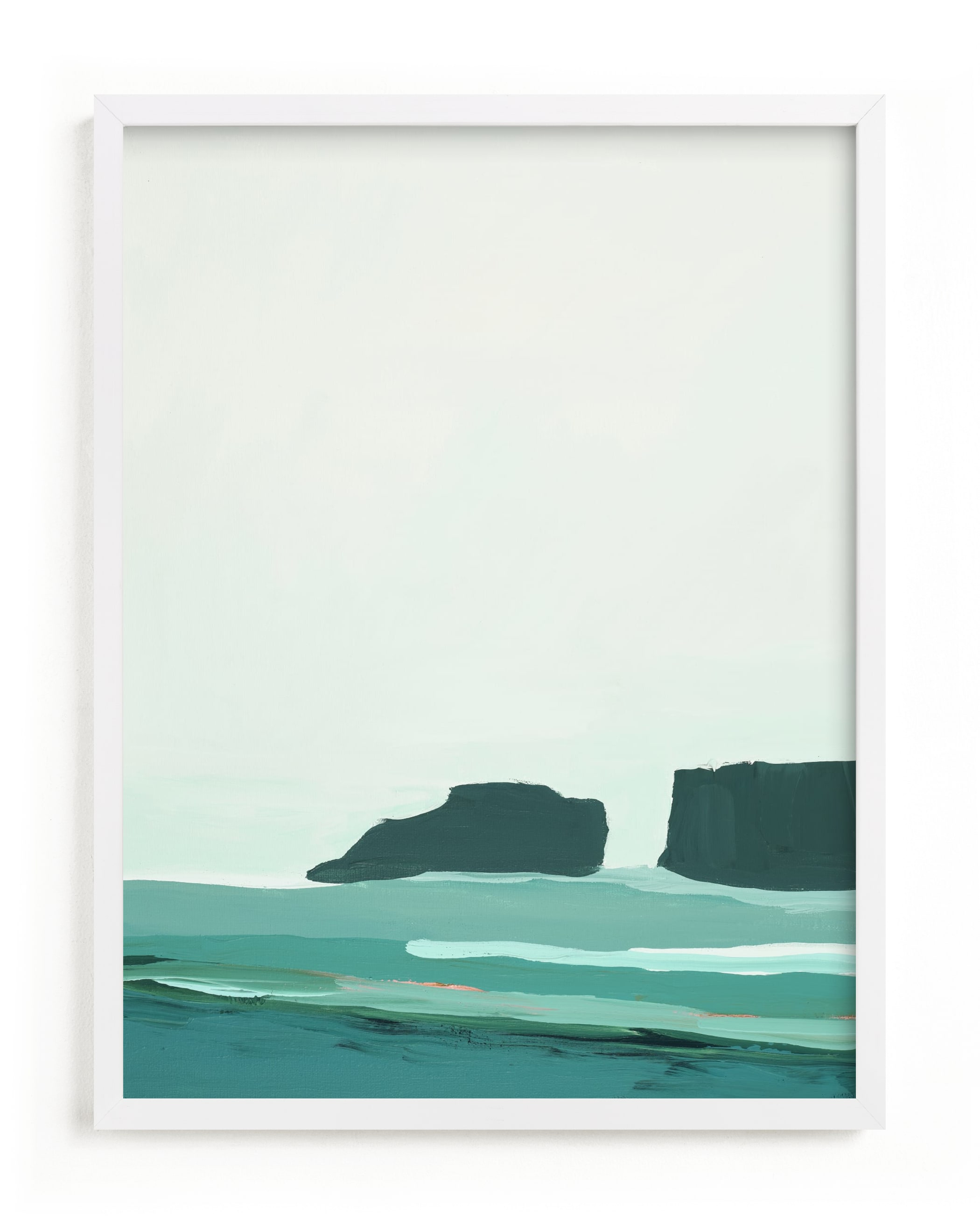 Abstract Pacific Seascape Diptych 1 Art Print