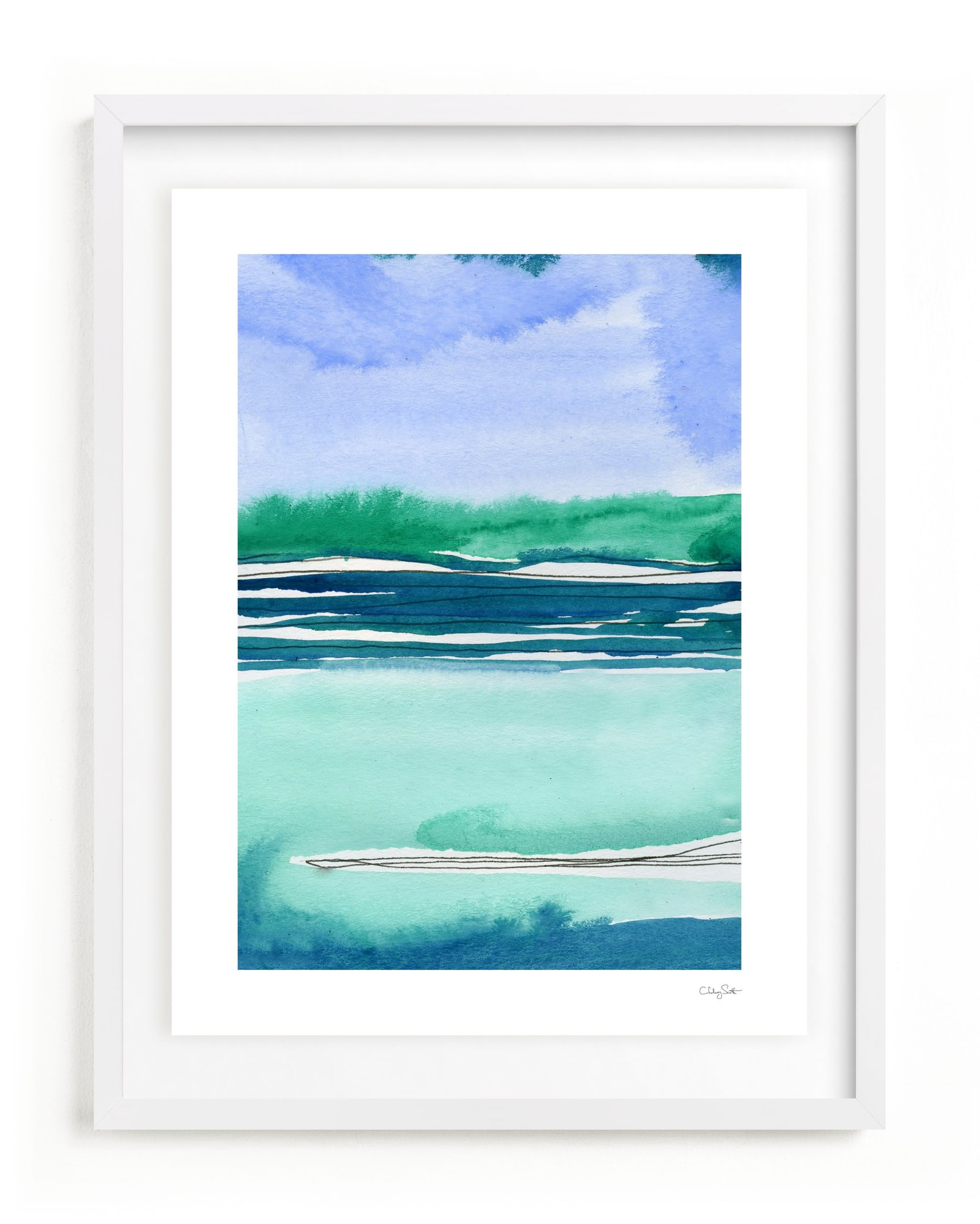 """""""Out To Sea II"""" - Limited Edition Art Print by Chelsey Scott in beautiful frame options and a variety of sizes."""