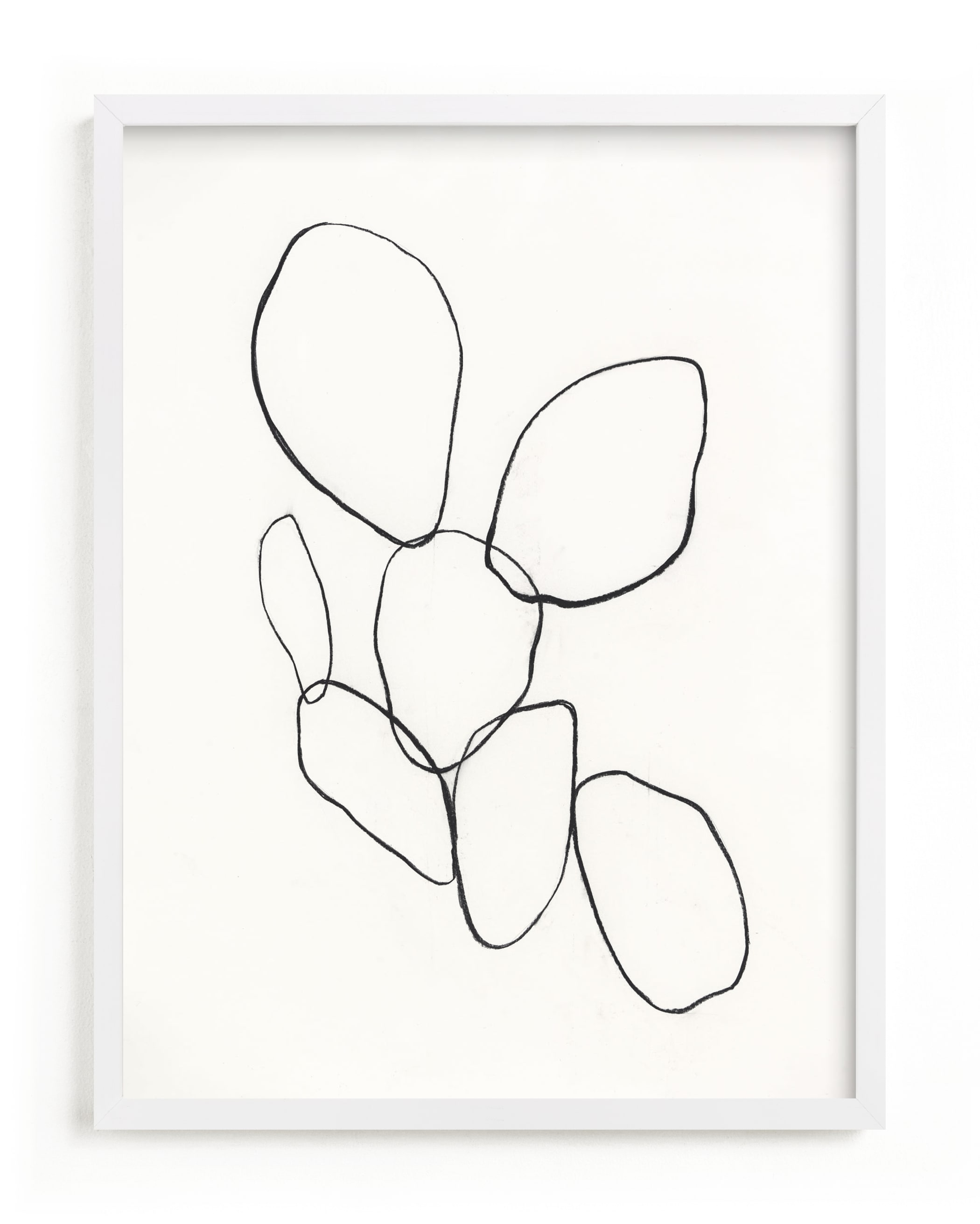 This is a ivory art by Amanda Phelps called Cactus Line Drawing.