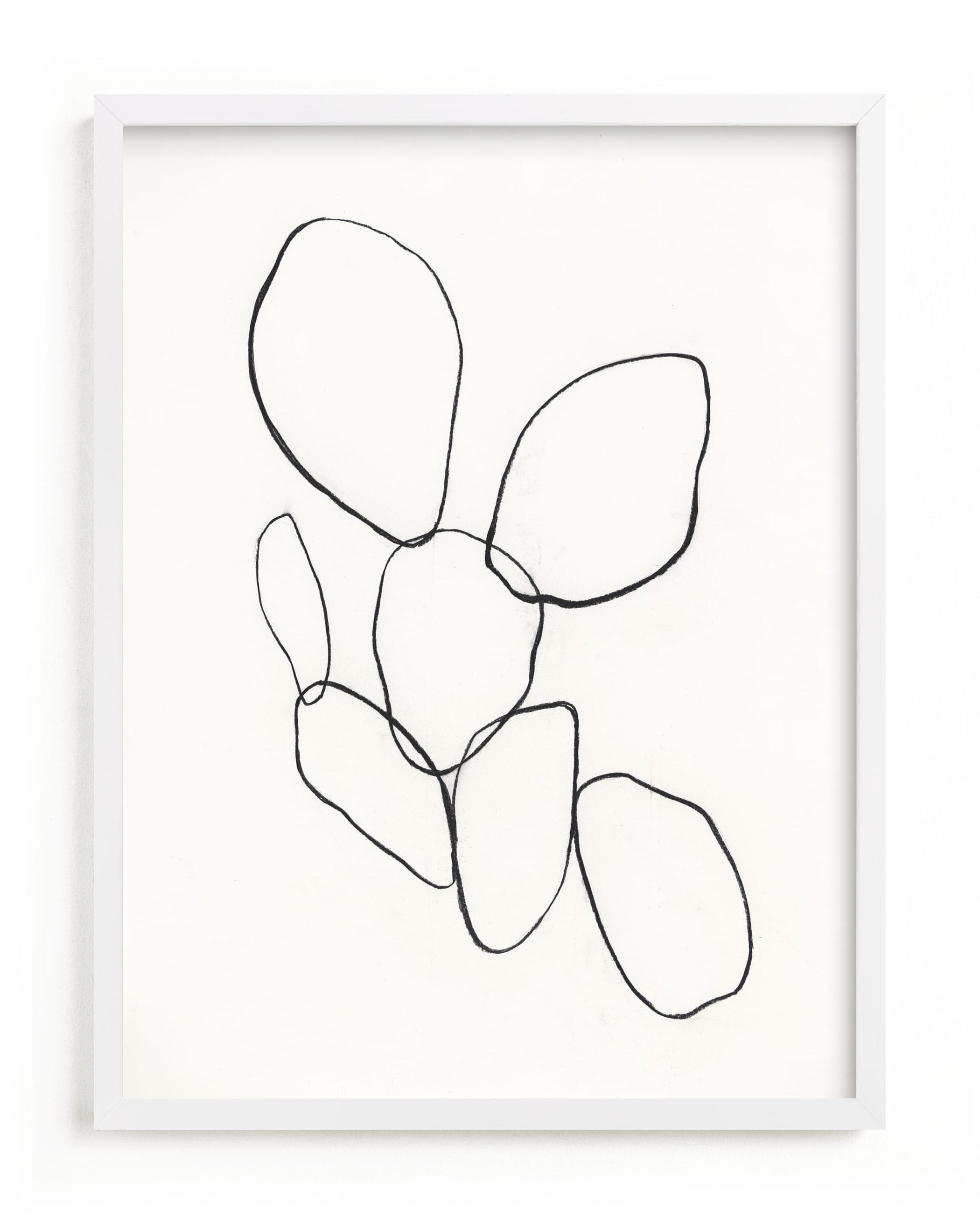 Cactus Line Drawing Art Print