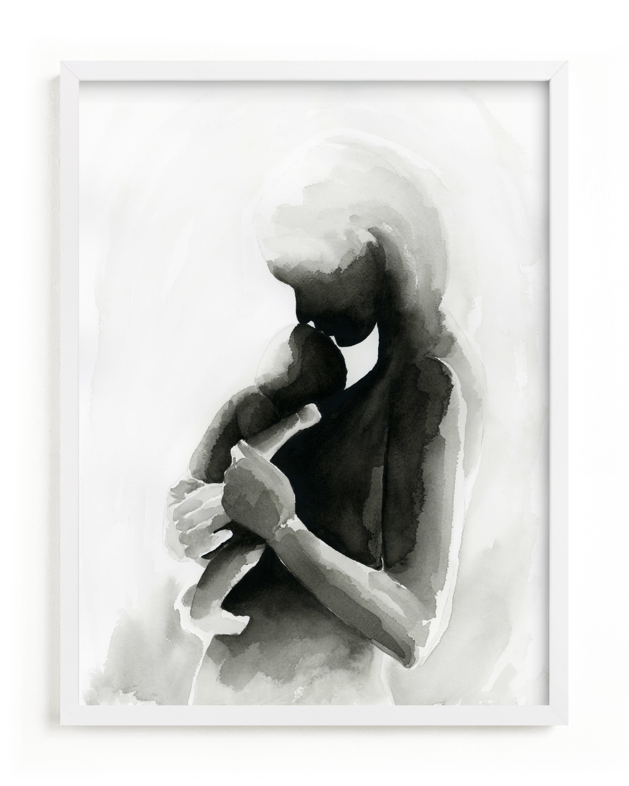 """""""Every Mother Counts Mother and Baby"""" - Limited Edition Art Print by Kate Ahn in beautiful frame options and a variety of sizes."""