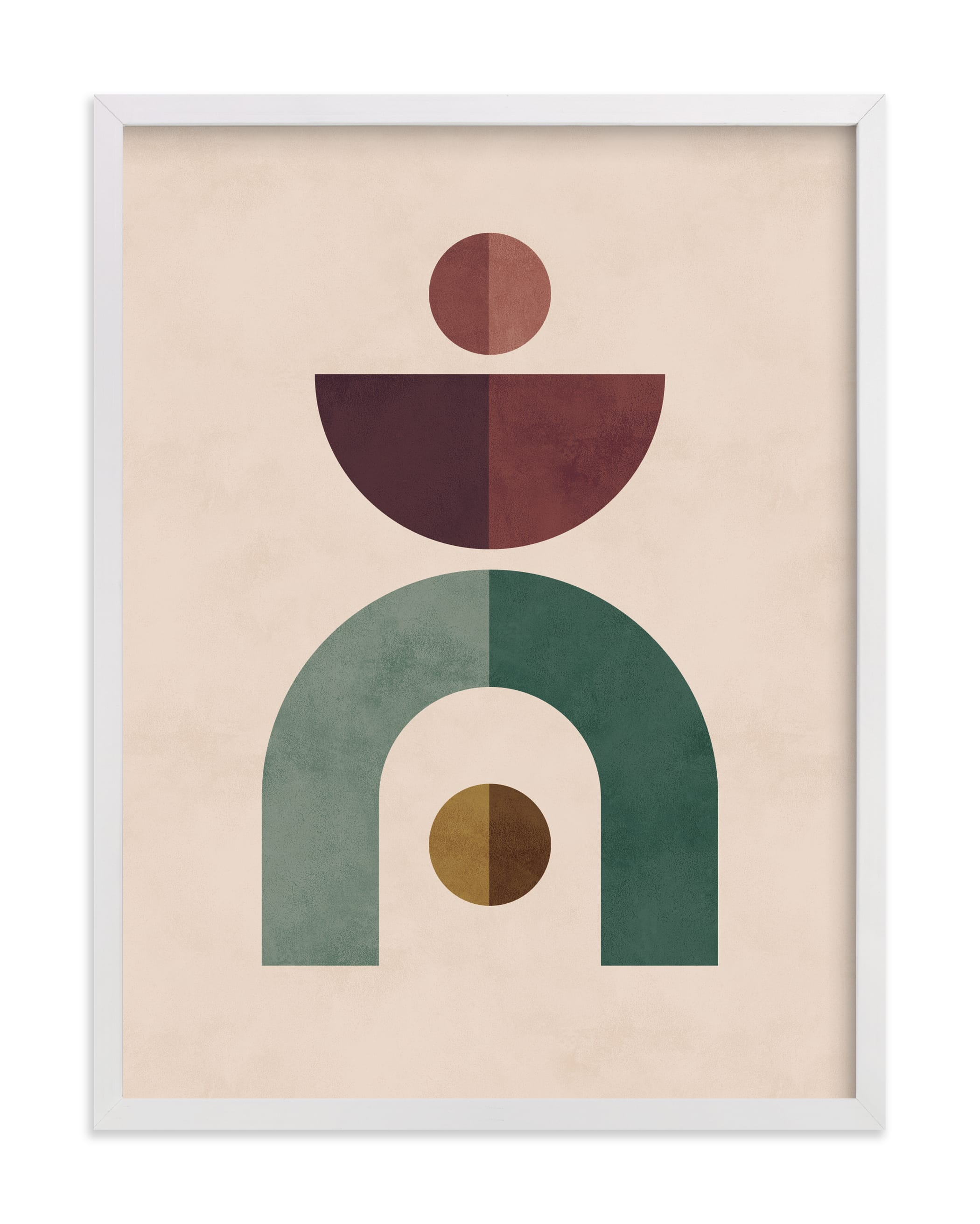 """Geometric 1"" - Limited Edition Art Print by Kelly Schmidt in beautiful frame options and a variety of sizes."