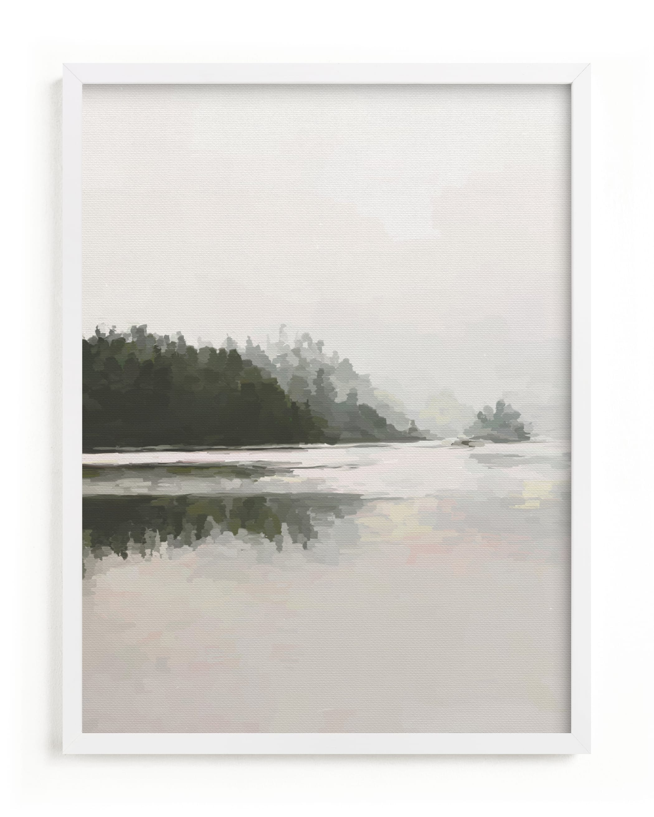 """""""LakeView II"""" - Limited Edition Art Print by Amy Hall in beautiful frame options and a variety of sizes."""