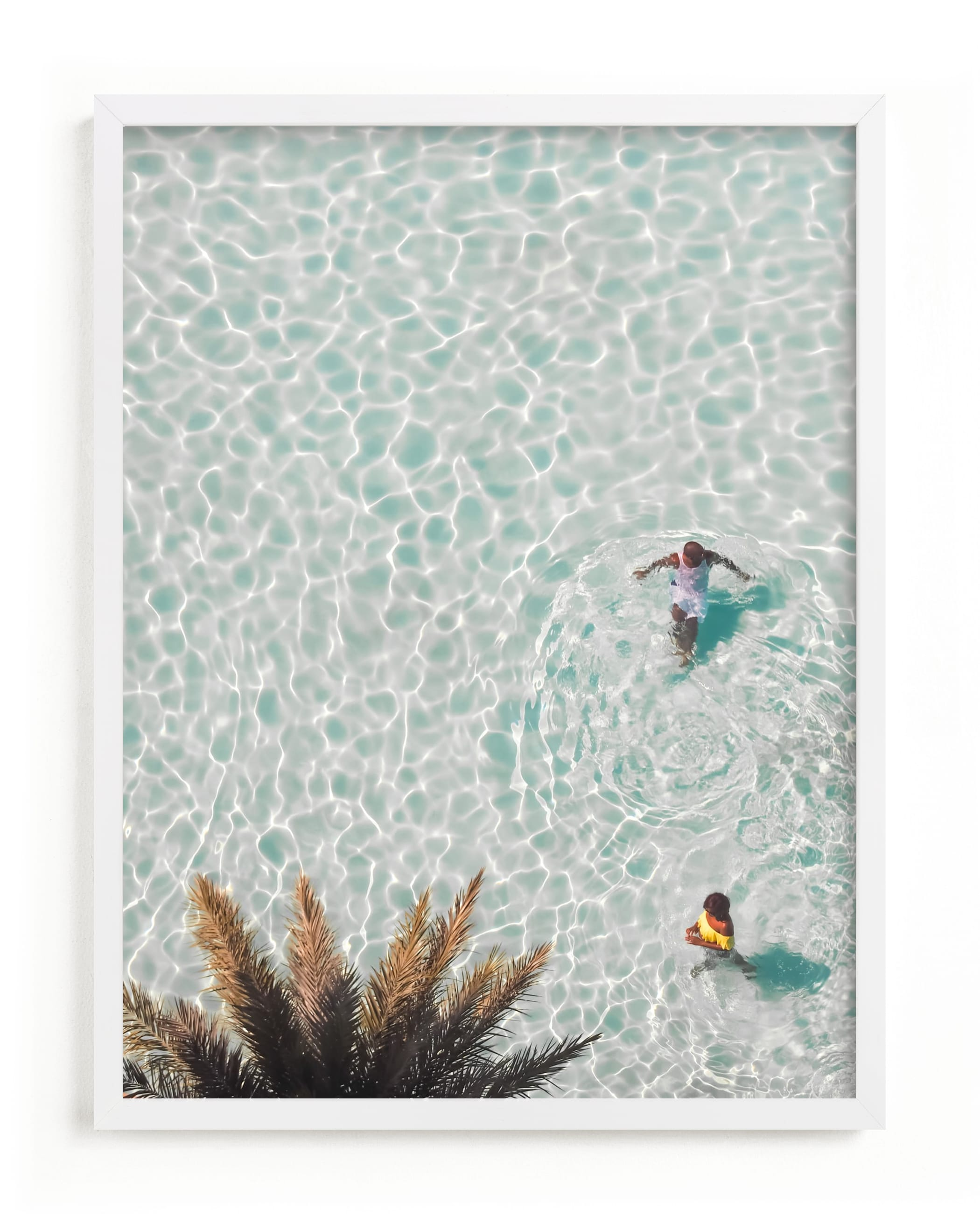 This is a blue art by KIMBERLY SMITH called Pool Party for Two.
