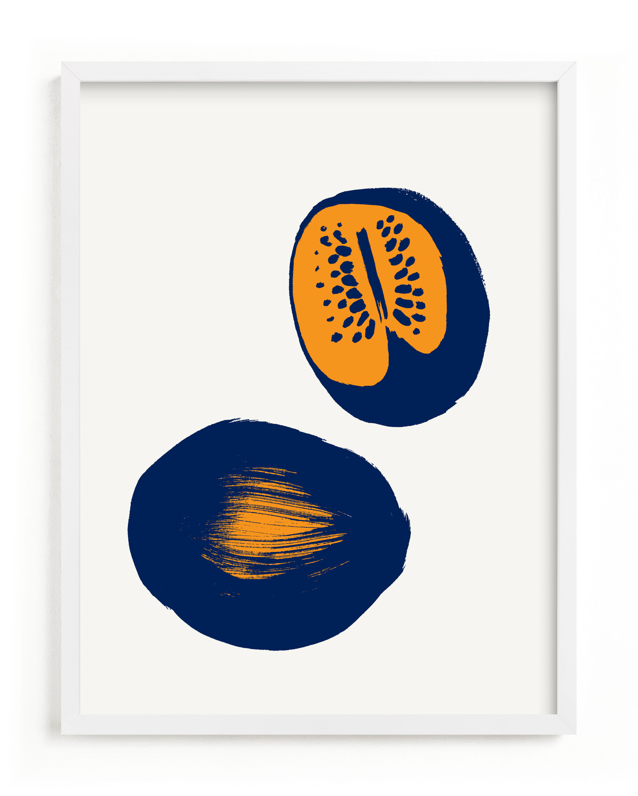 This is a blue art by Sonya Percival called Watermelons.