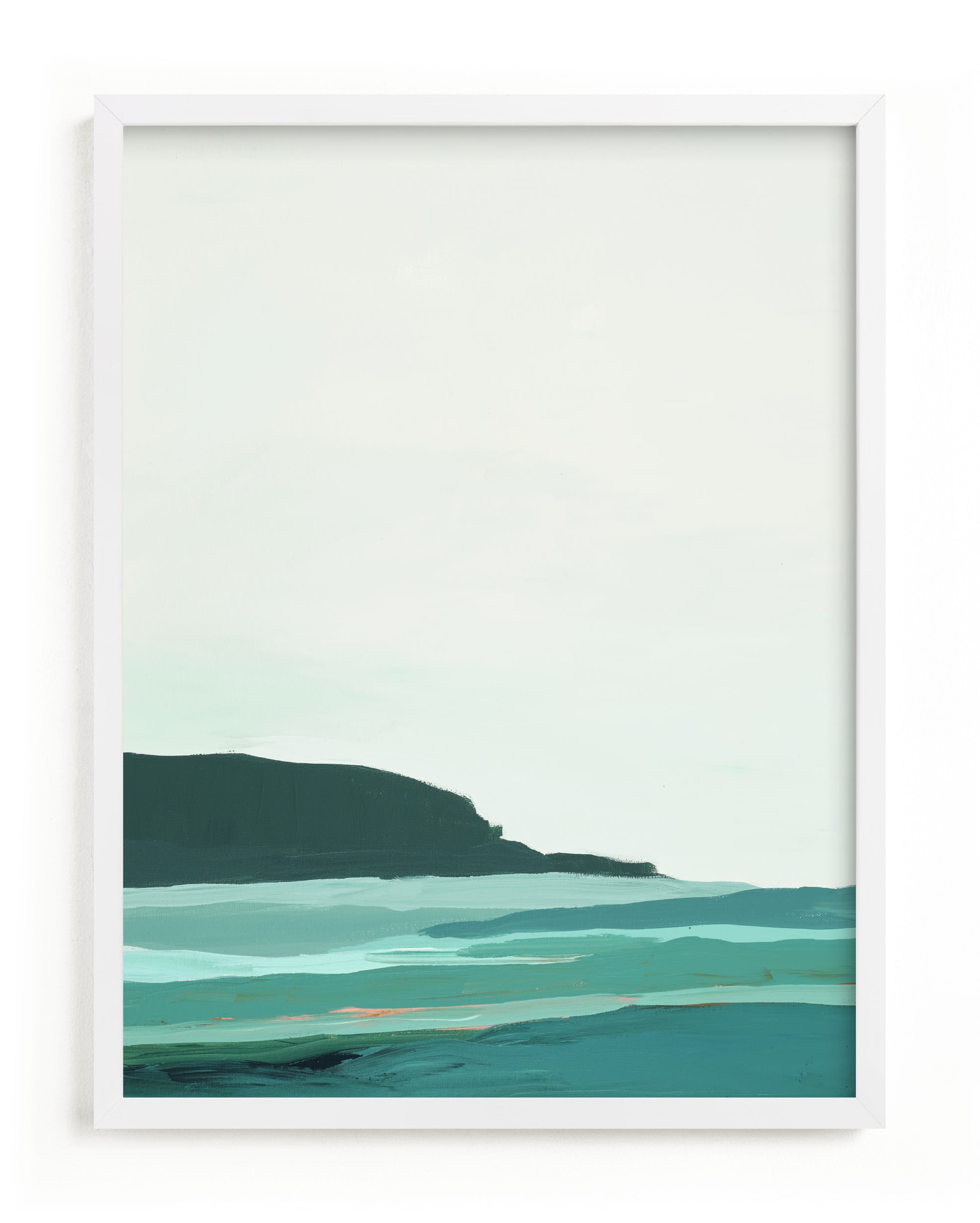 Abstract Pacific Seascape Diptych 2 Art Print