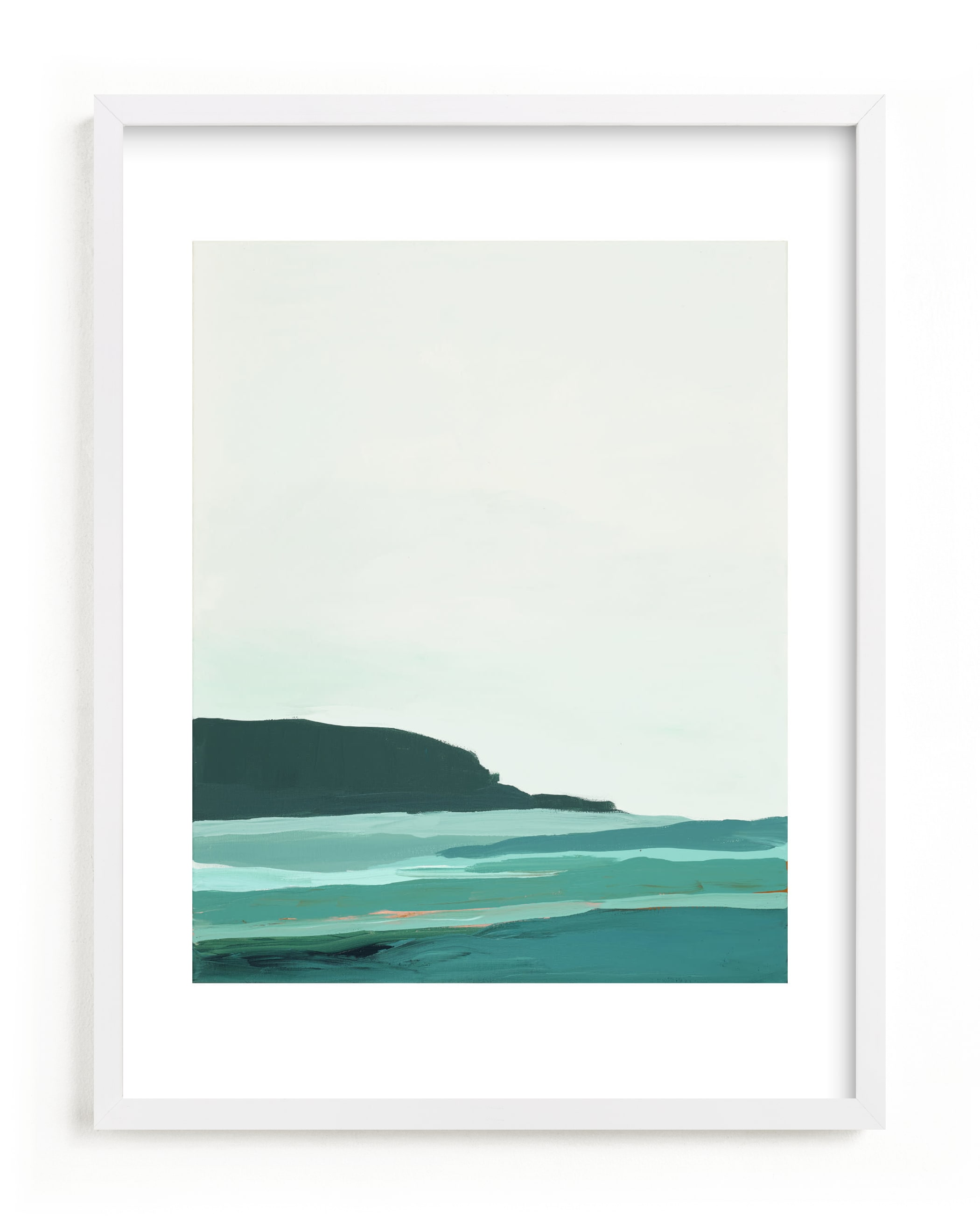 """""""Abstract Pacific Seascape Diptych 2"""" - Limited Edition Art Print by Caryn Owen in beautiful frame options and a variety of sizes."""