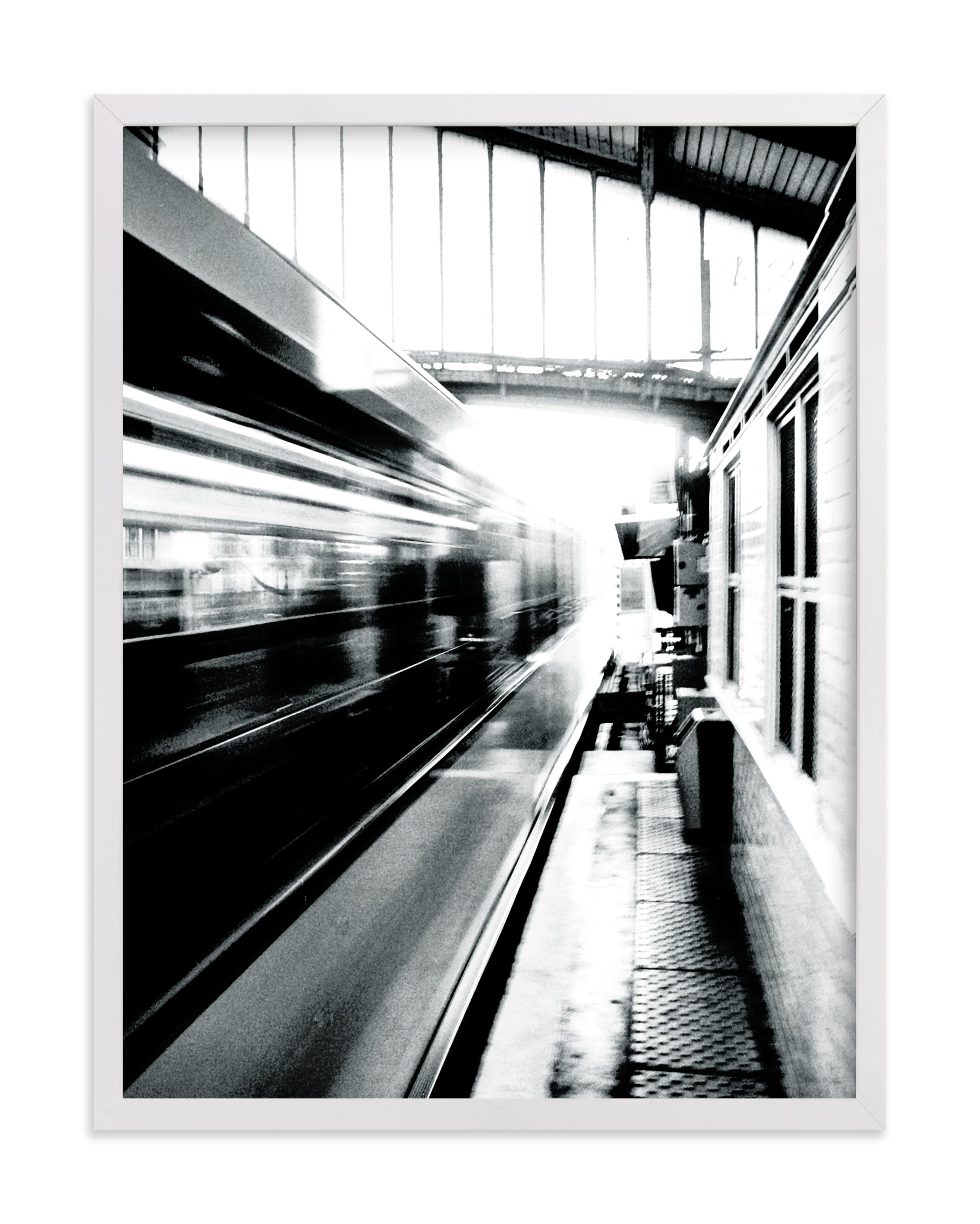 This is a black and white art by Marker Girl called Riding on the Metro.