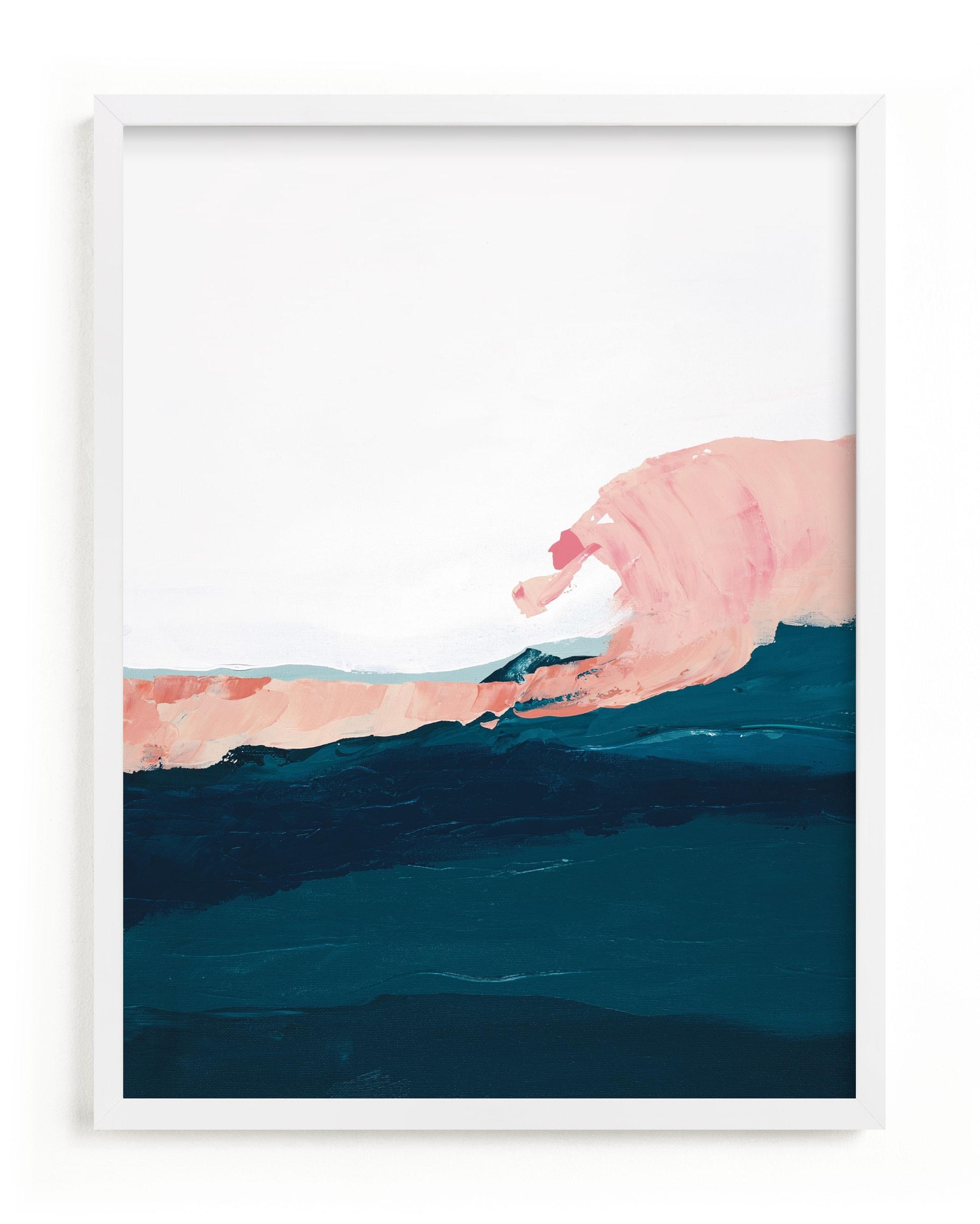 This is a blue art by Caryn Owen called Santa Cruz Seascape Winter Swell.