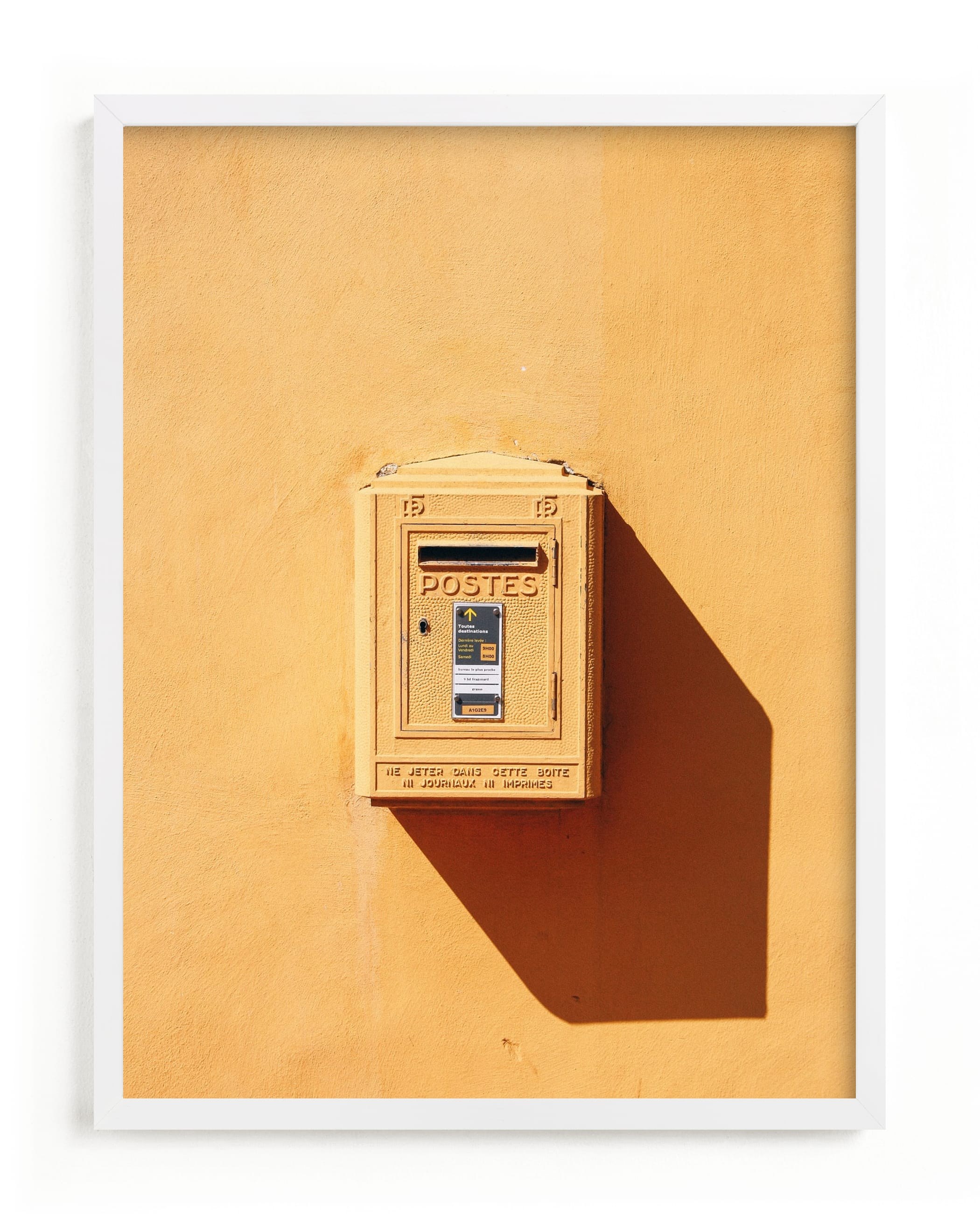"""""""La Poste"""" - Limited Edition Art Print by lulu and isabelle in beautiful frame options and a variety of sizes."""
