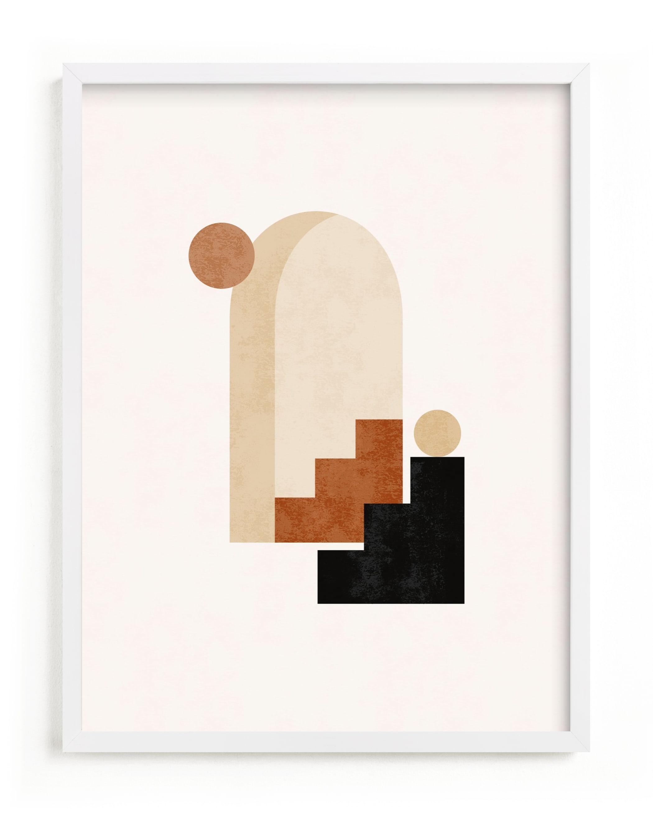 Rustic Geometry 1 Art Print