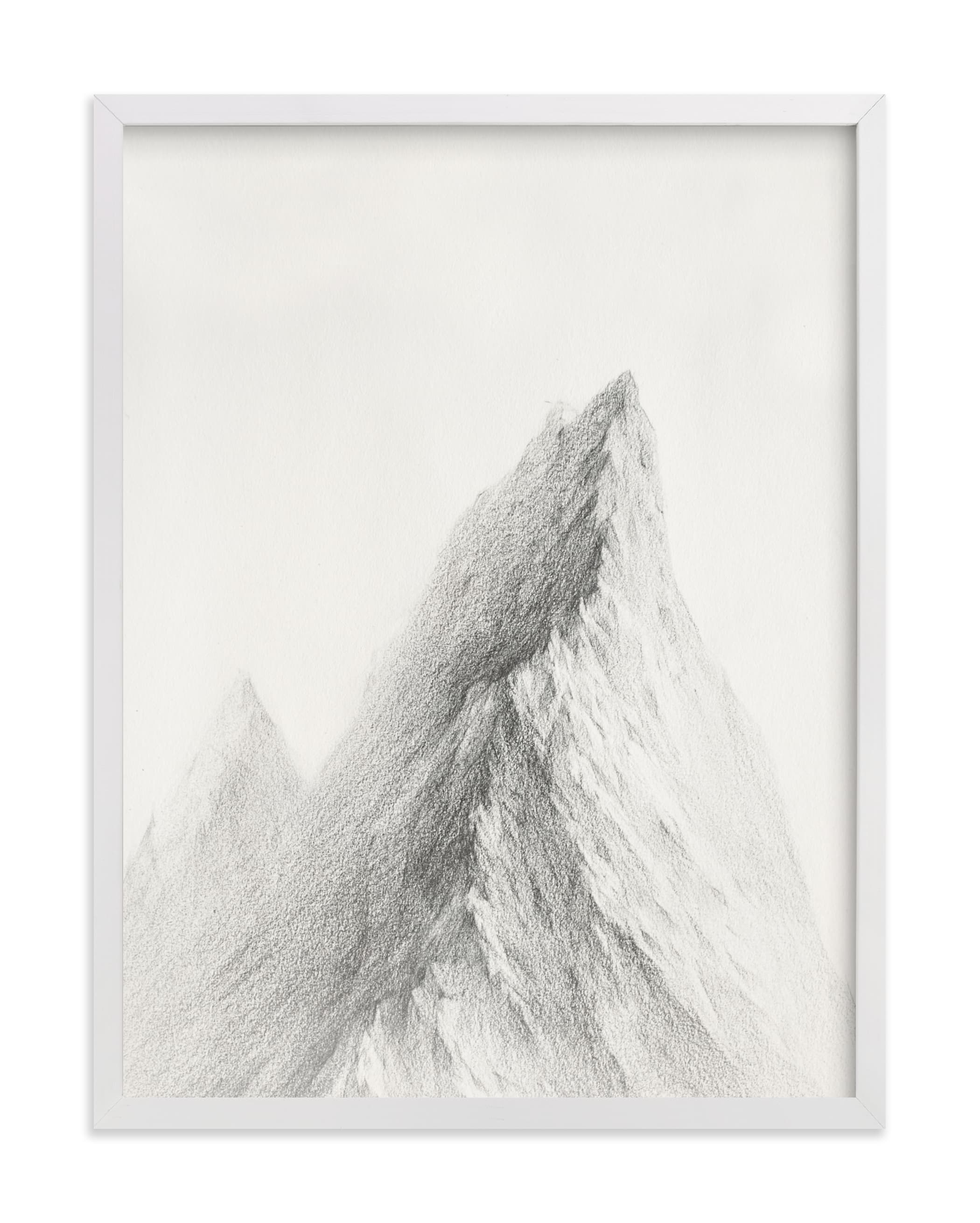 """""""Mt. Winterfell"""" - Limited Edition Art Print by jinseikou in beautiful frame options and a variety of sizes."""
