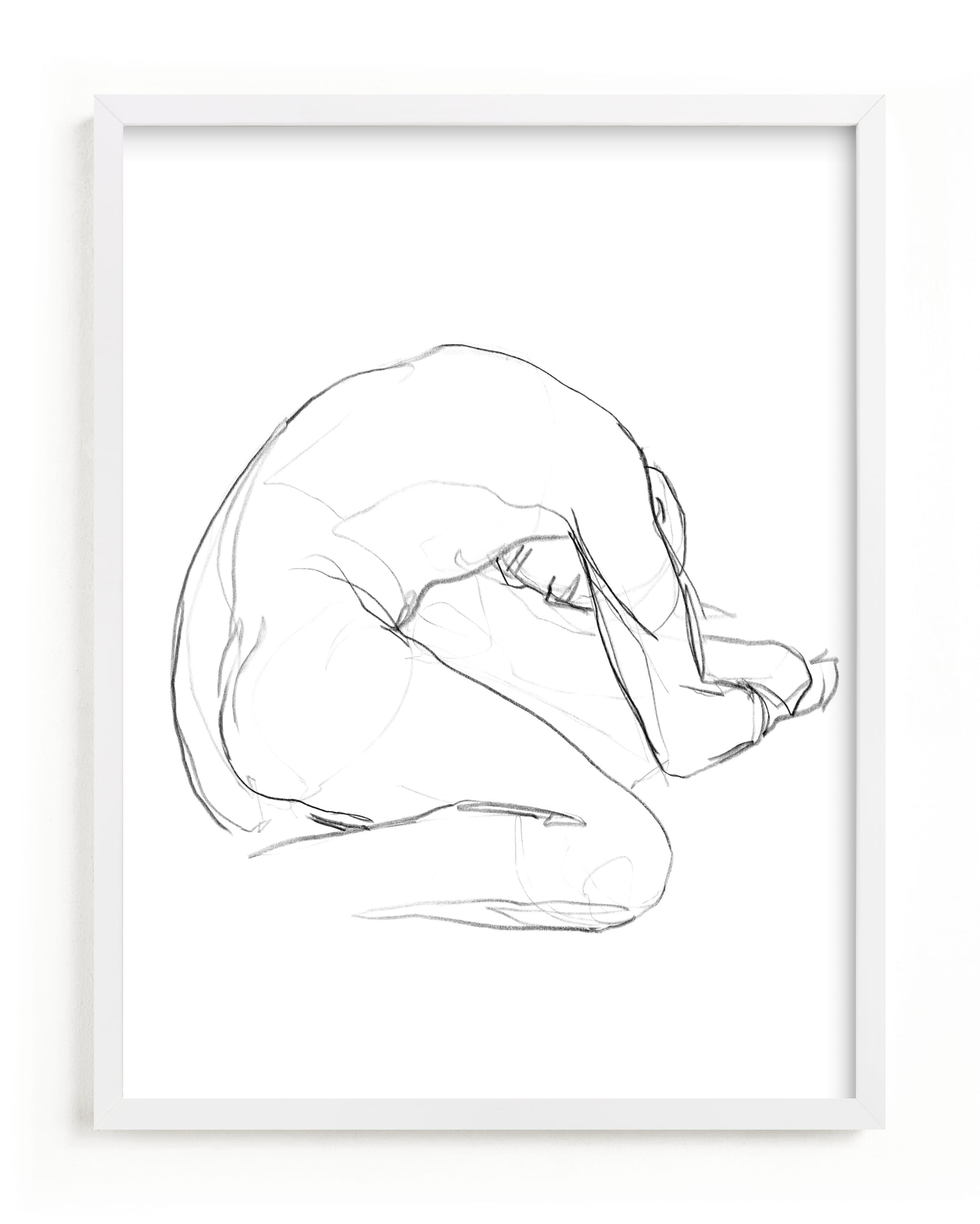 """Seated Figure"" - Limited Edition Art Print by Lorent and Leif in beautiful frame options and a variety of sizes."