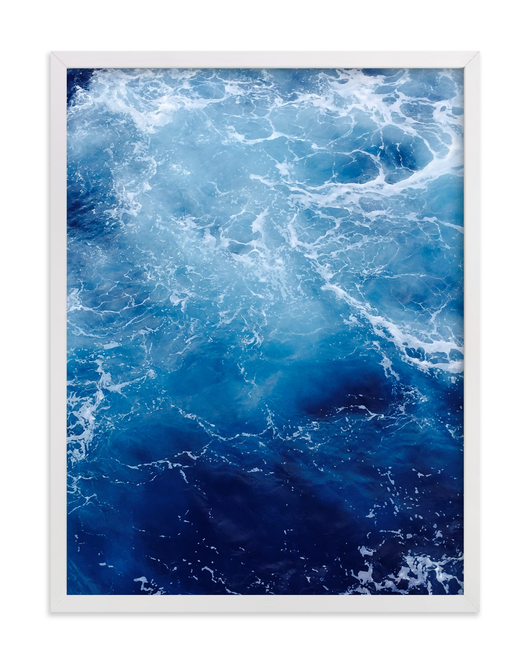 """Waving Blue"" - Limited Edition Art Print by CaroleeXpressions in beautiful frame options and a variety of sizes."