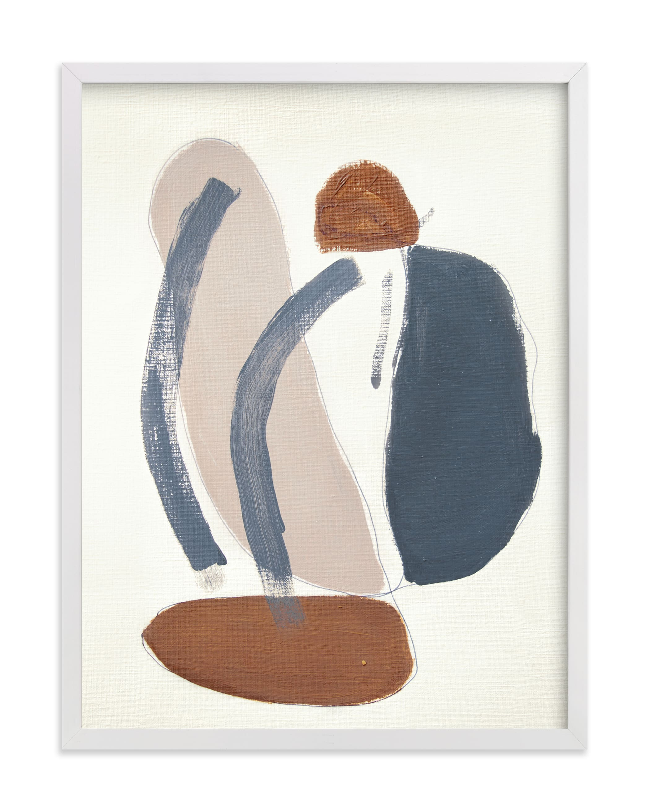 This is a blue art by Kara Schlabaugh called Tracks No. 3.