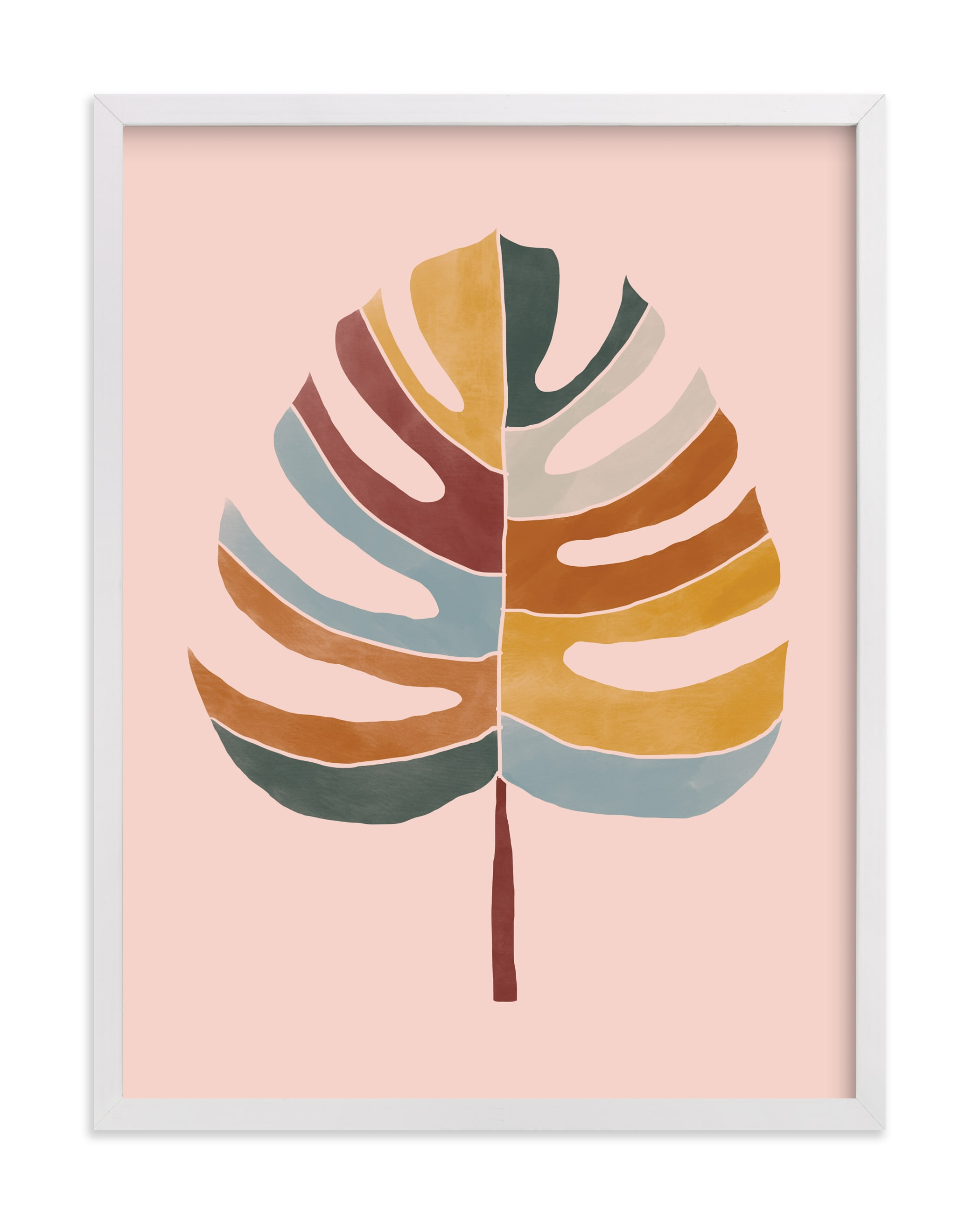 """""""Chic Monstera"""" - Limited Edition Art Print by lulu and isabelle in beautiful frame options and a variety of sizes."""