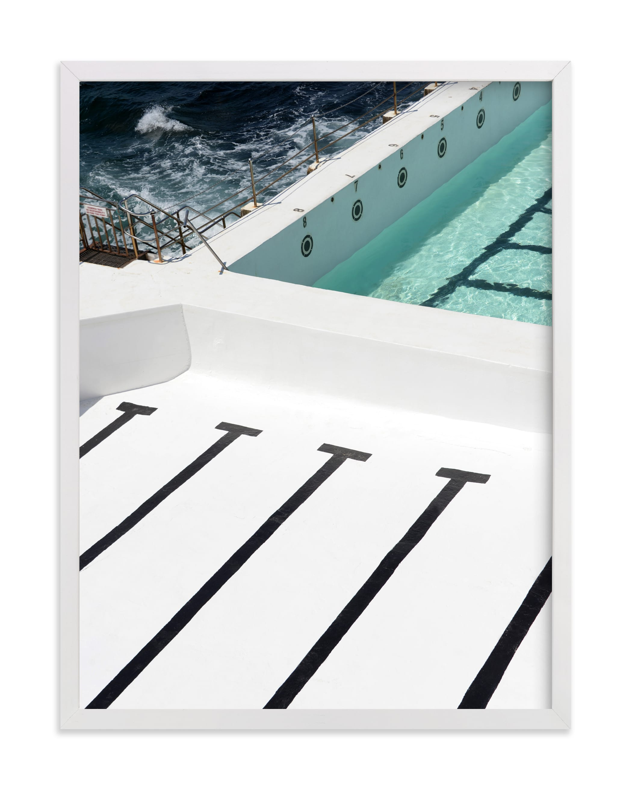 """""""Stripes Coastal"""" - Grownup Open Edition Non-custom Art Print by JD in beautiful frame options and a variety of sizes."""