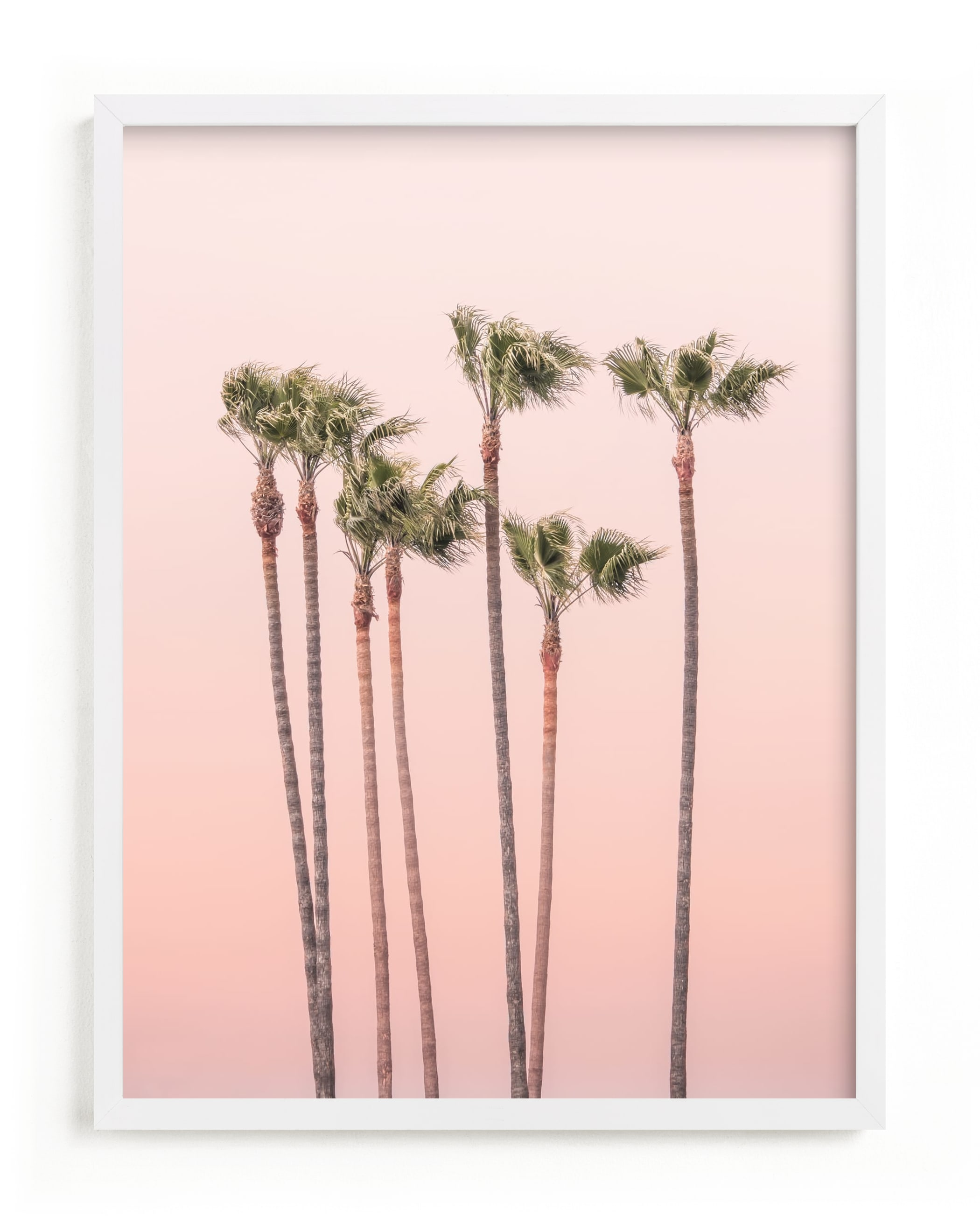 """""""Seven Palmtrees"""" - Grownup Open Edition Non-custom Art Print by Lisa Sundin in beautiful frame options and a variety of sizes."""