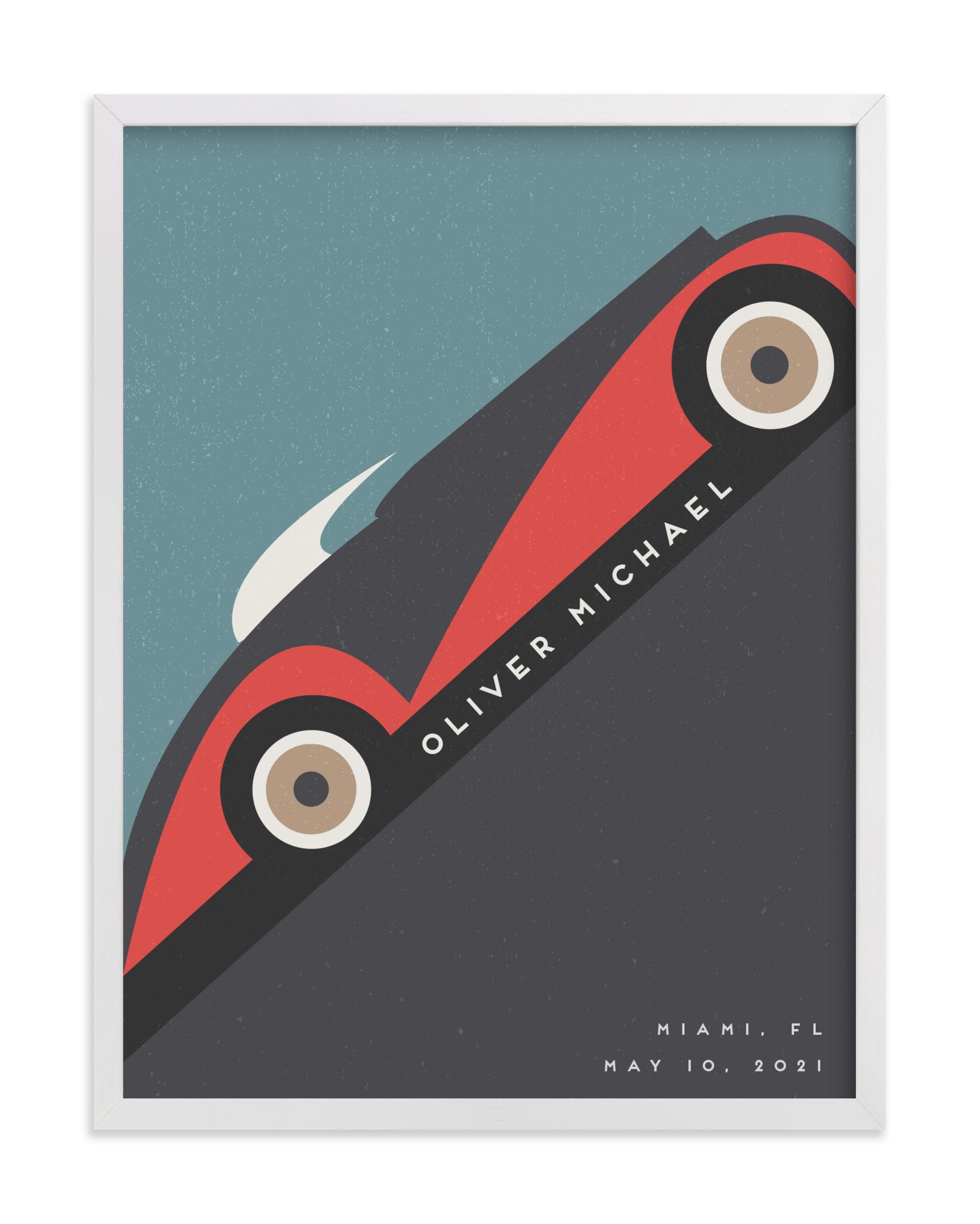 Motorcar Children's Custom Art Print