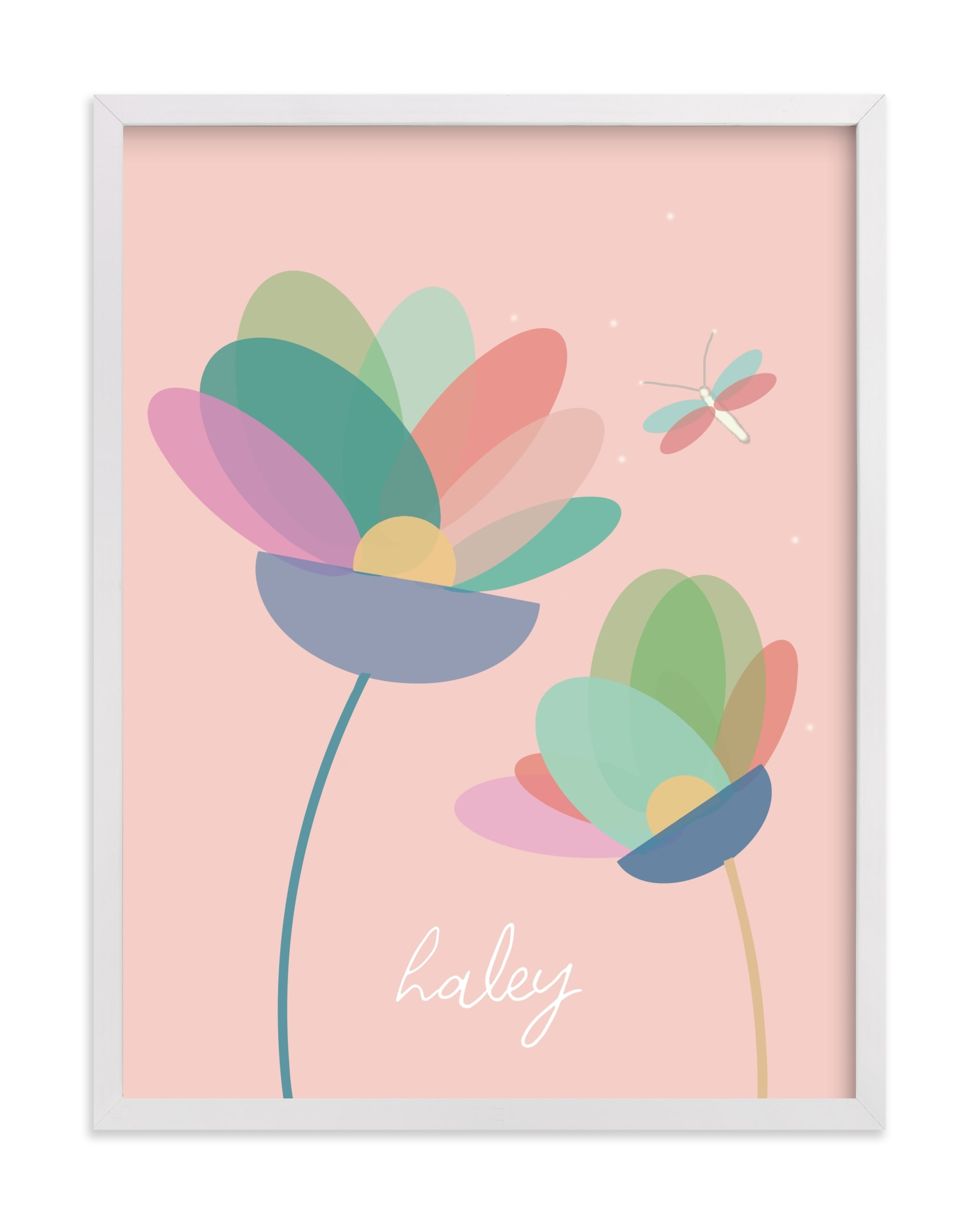 """""""Modern Floral"""" - Children's Custom Art Print by AlisonJerry in beautiful frame options and a variety of sizes."""