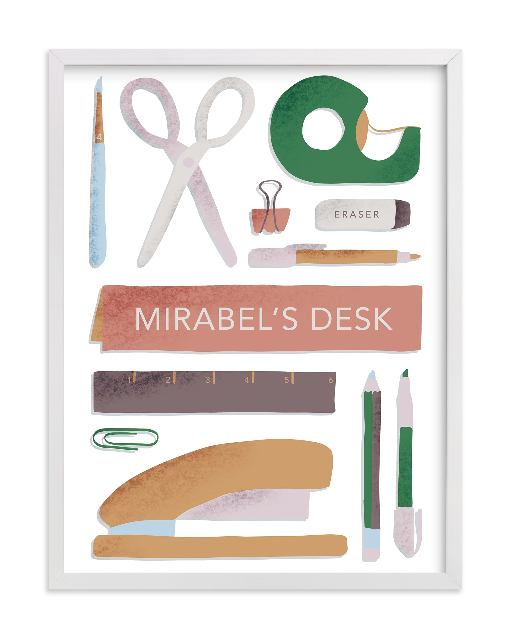 """""""My Workspace"""" - Children's Custom Art Print by Carolyn Kach in beautiful frame options and a variety of sizes."""