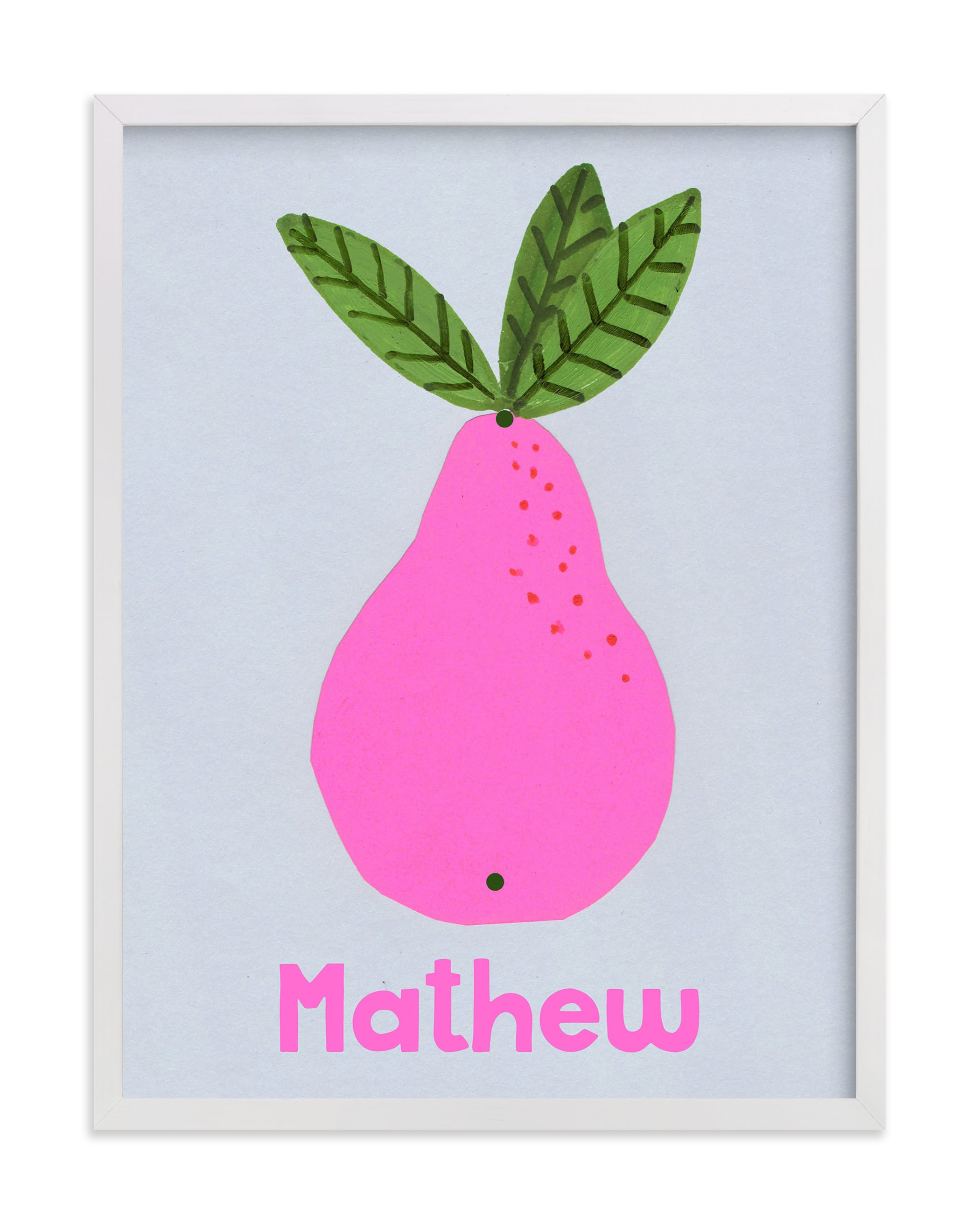 """""""My Fruity Family II"""" - Children's Custom Art Print by Marta González in beautiful frame options and a variety of sizes."""