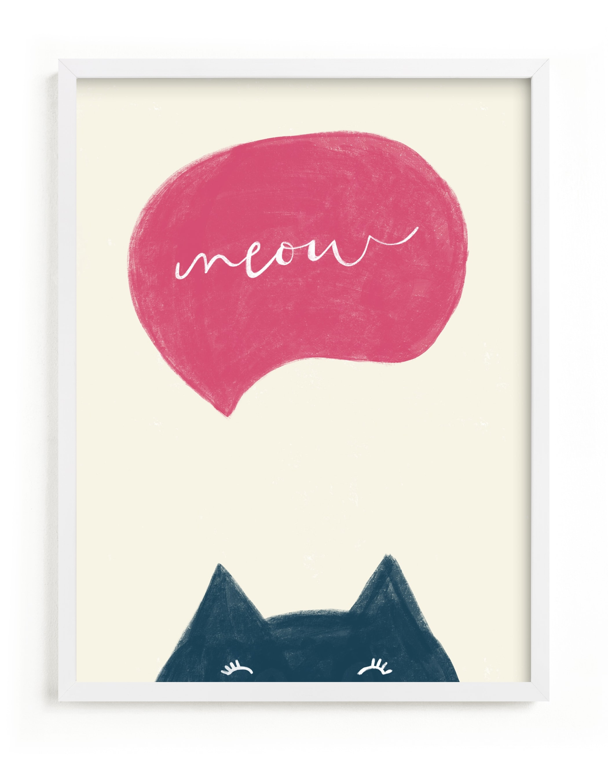 """""""Meow Meow"""" - Limited Edition Art Print by Pixel and Hank in beautiful frame options and a variety of sizes."""