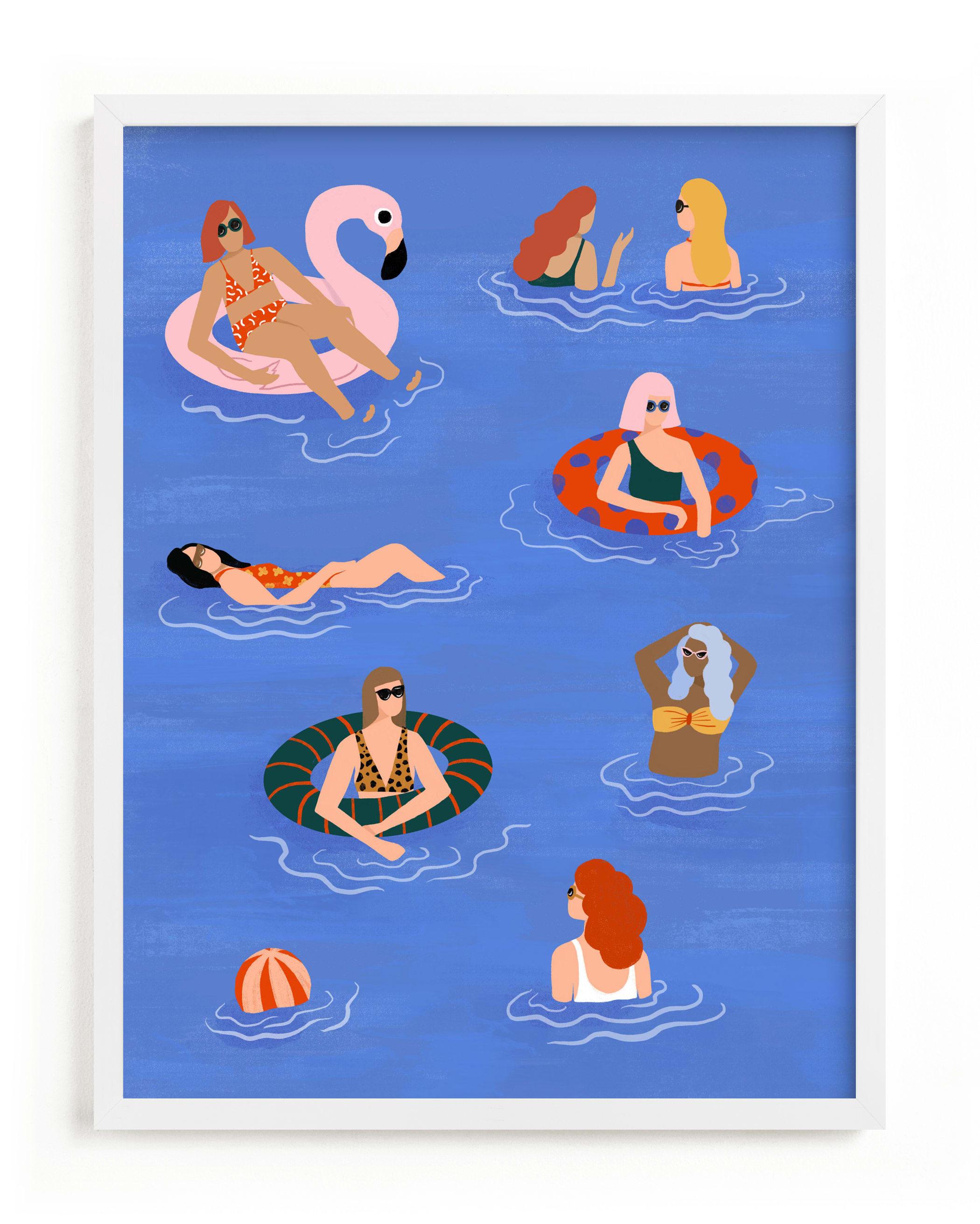 Pool Party Children's Art Print
