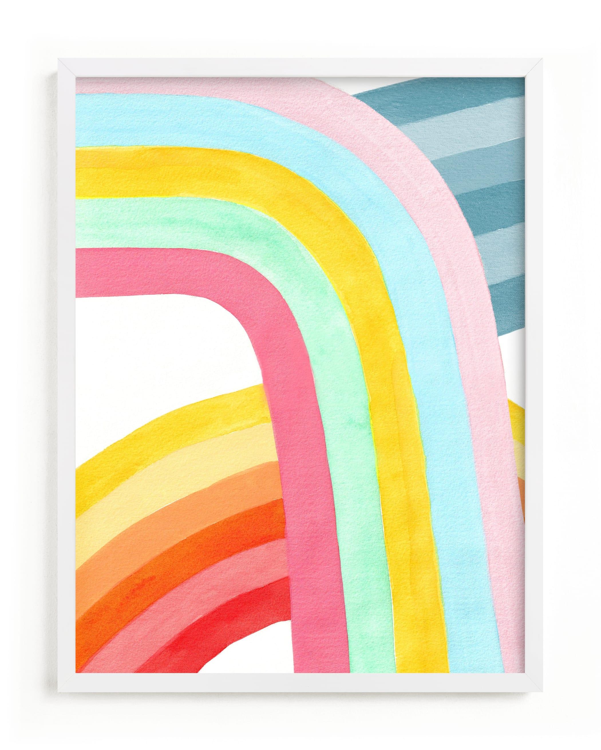 Happy Rainbows Children's Art Print