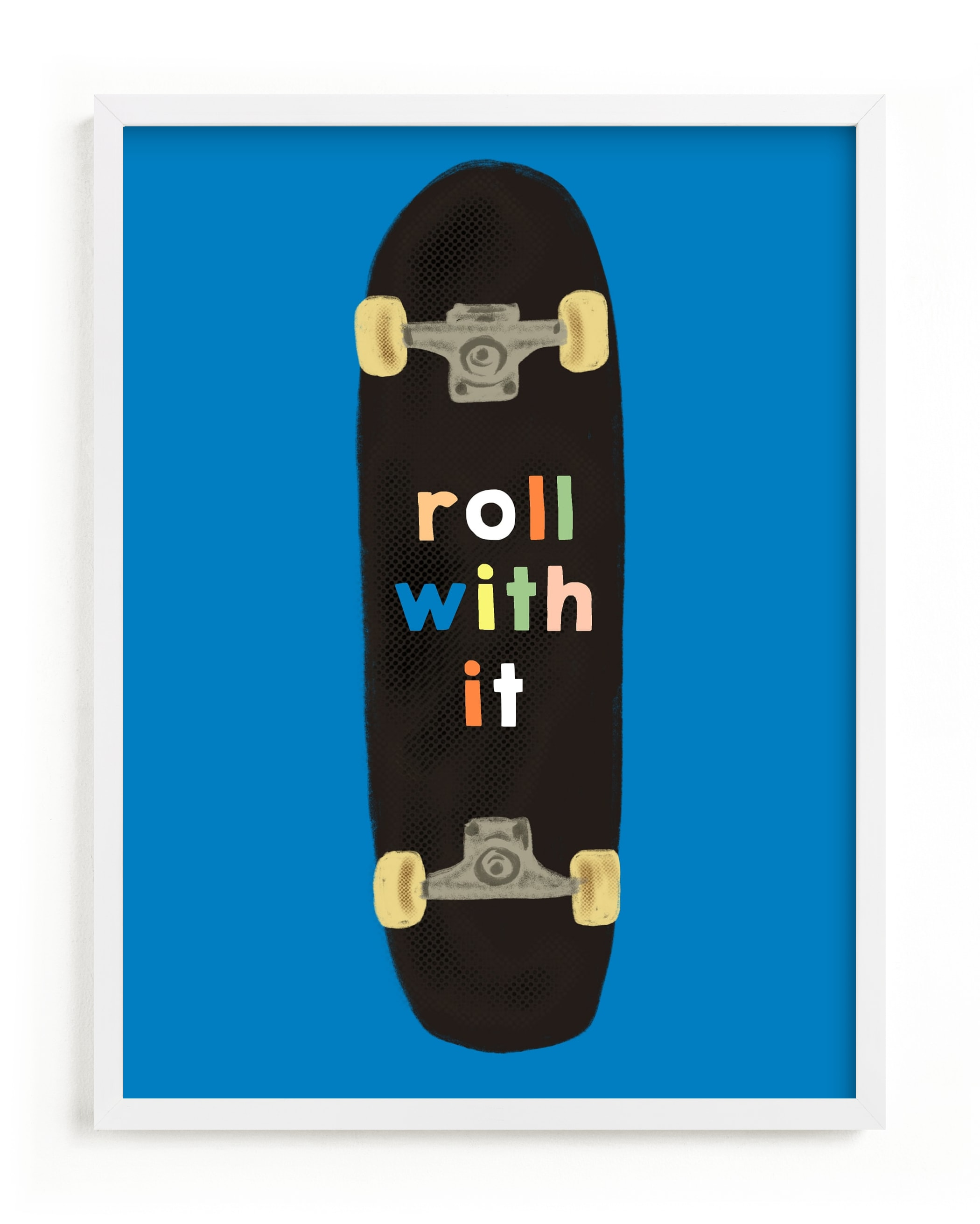 """""""roll with it"""" - Limited Edition Art Print by Baumbirdy in beautiful frame options and a variety of sizes."""