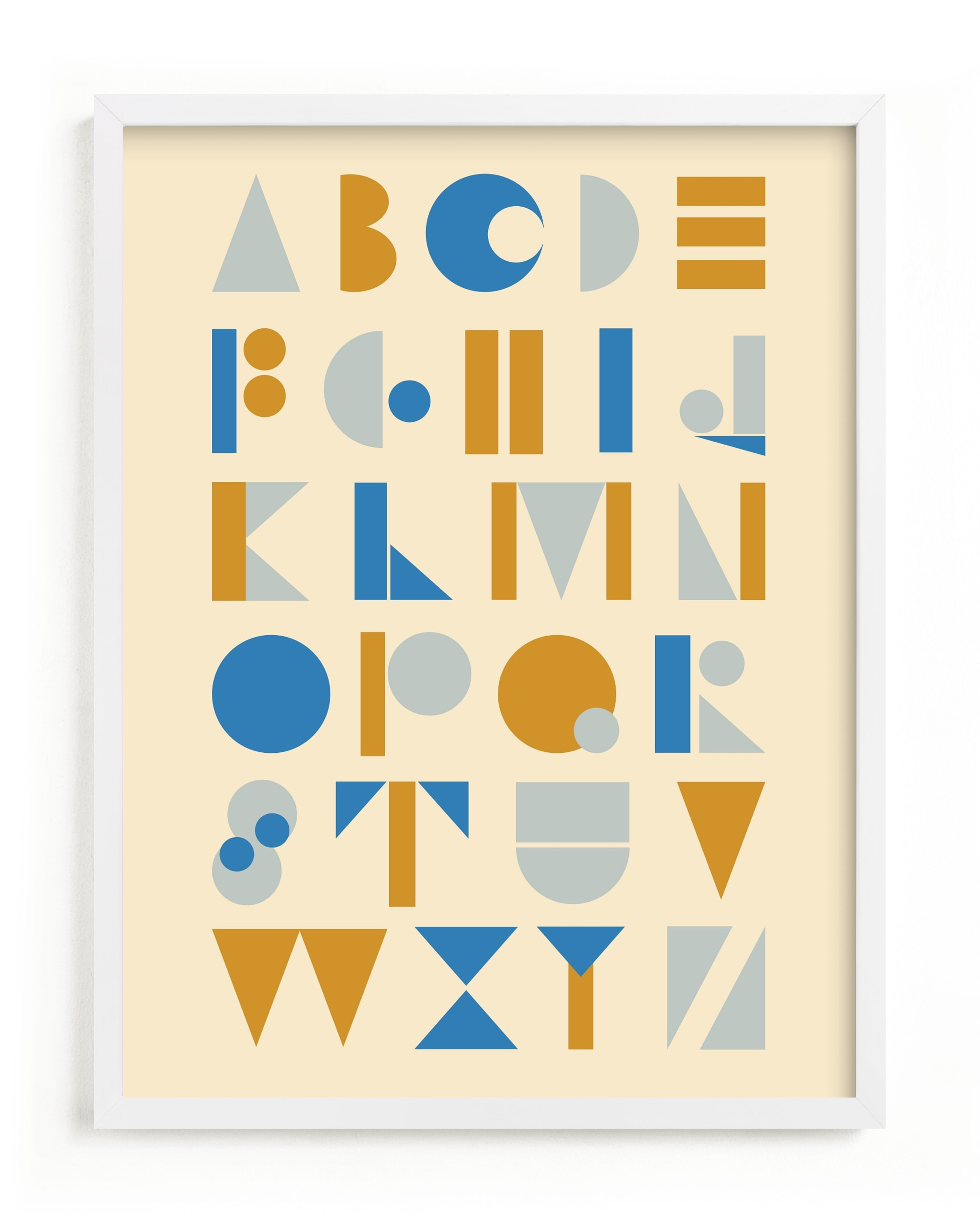 Mod Alphabet Children's Art Print