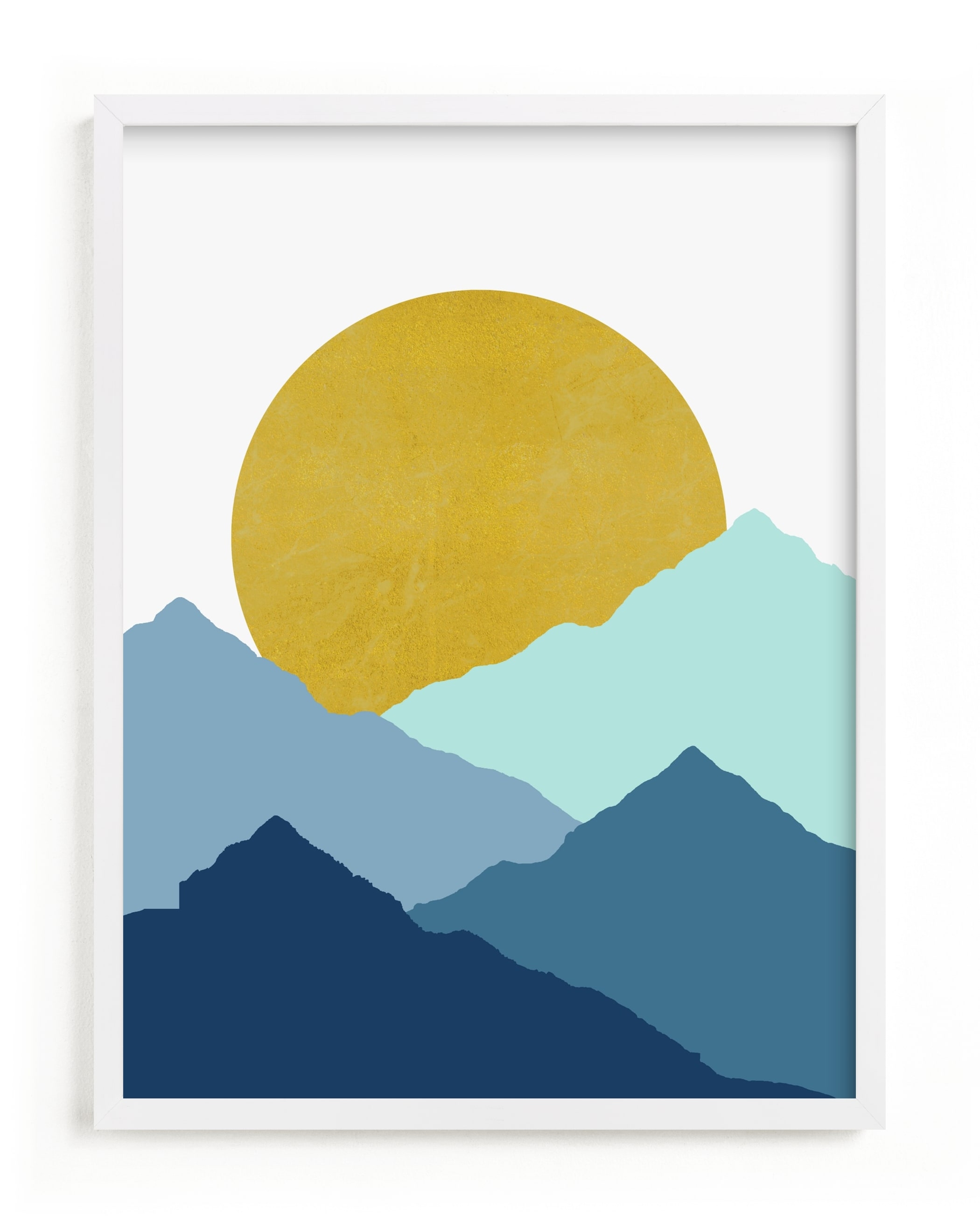 """Mountain Love"" - Limited Edition Art Print by Sudevi Sen in beautiful frame options and a variety of sizes."