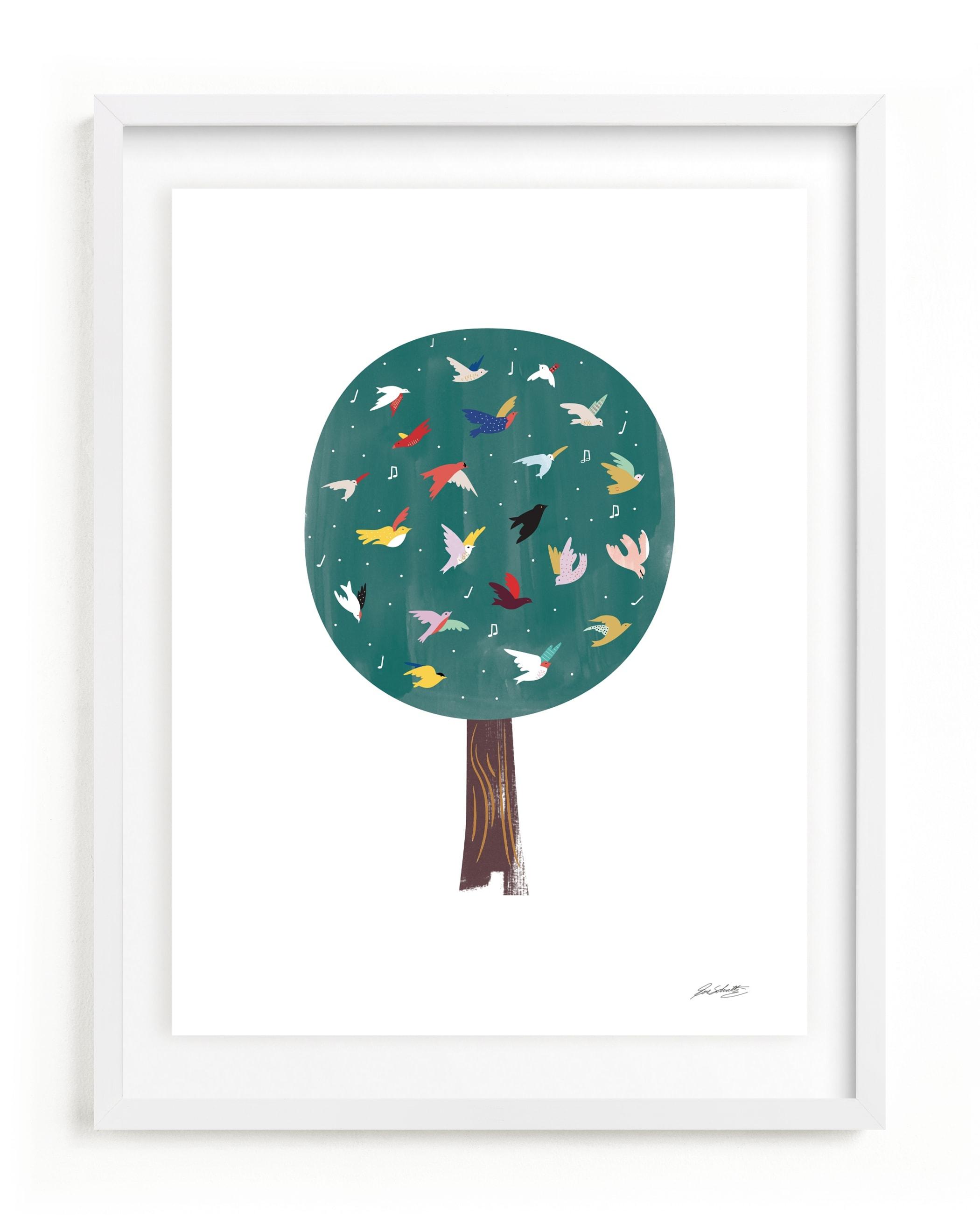 Lots of Songbirds Children's Art Print
