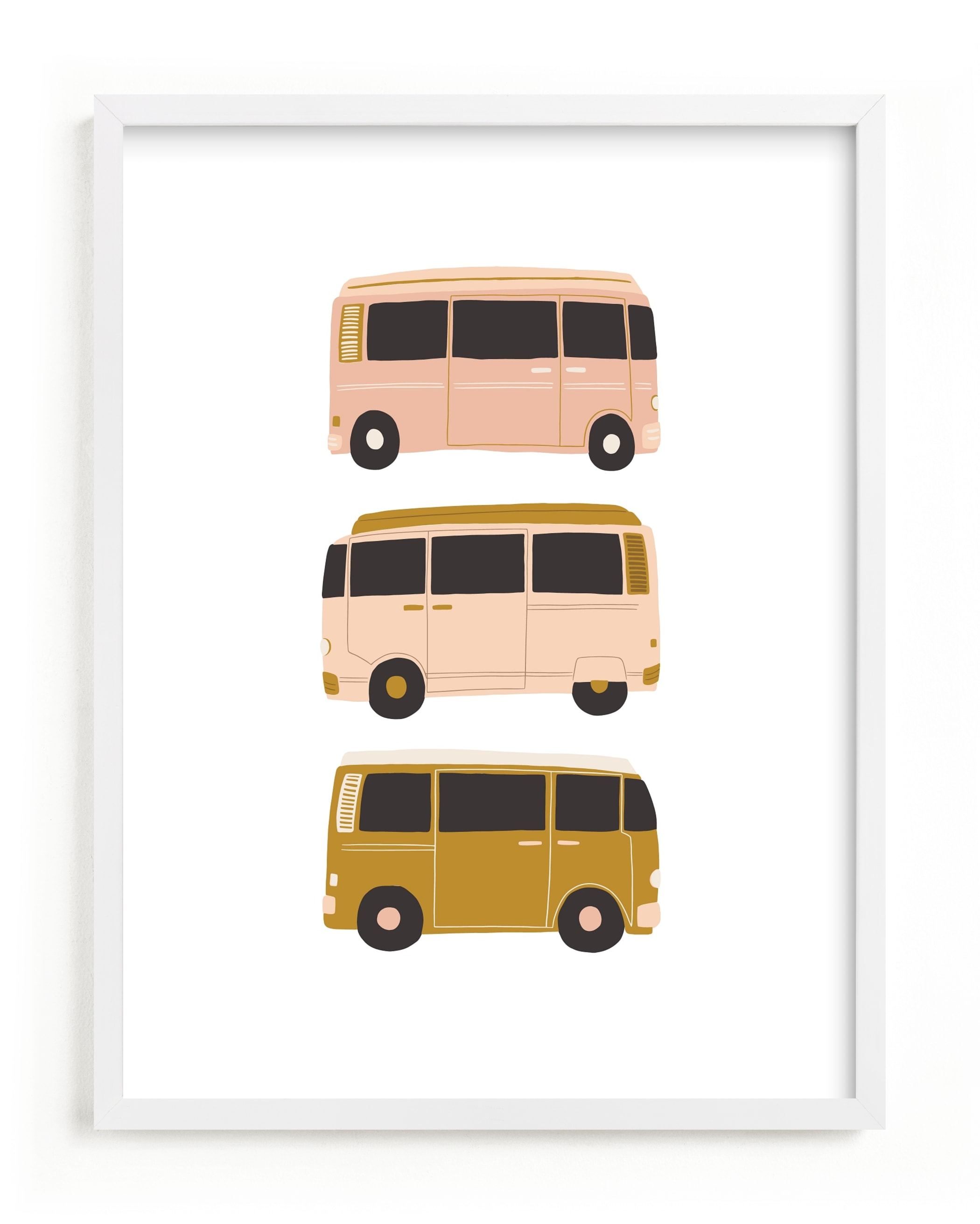 """""""Vintage Van Crew"""" - Limited Edition Art Print by Alicia Schultz in beautiful frame options and a variety of sizes."""