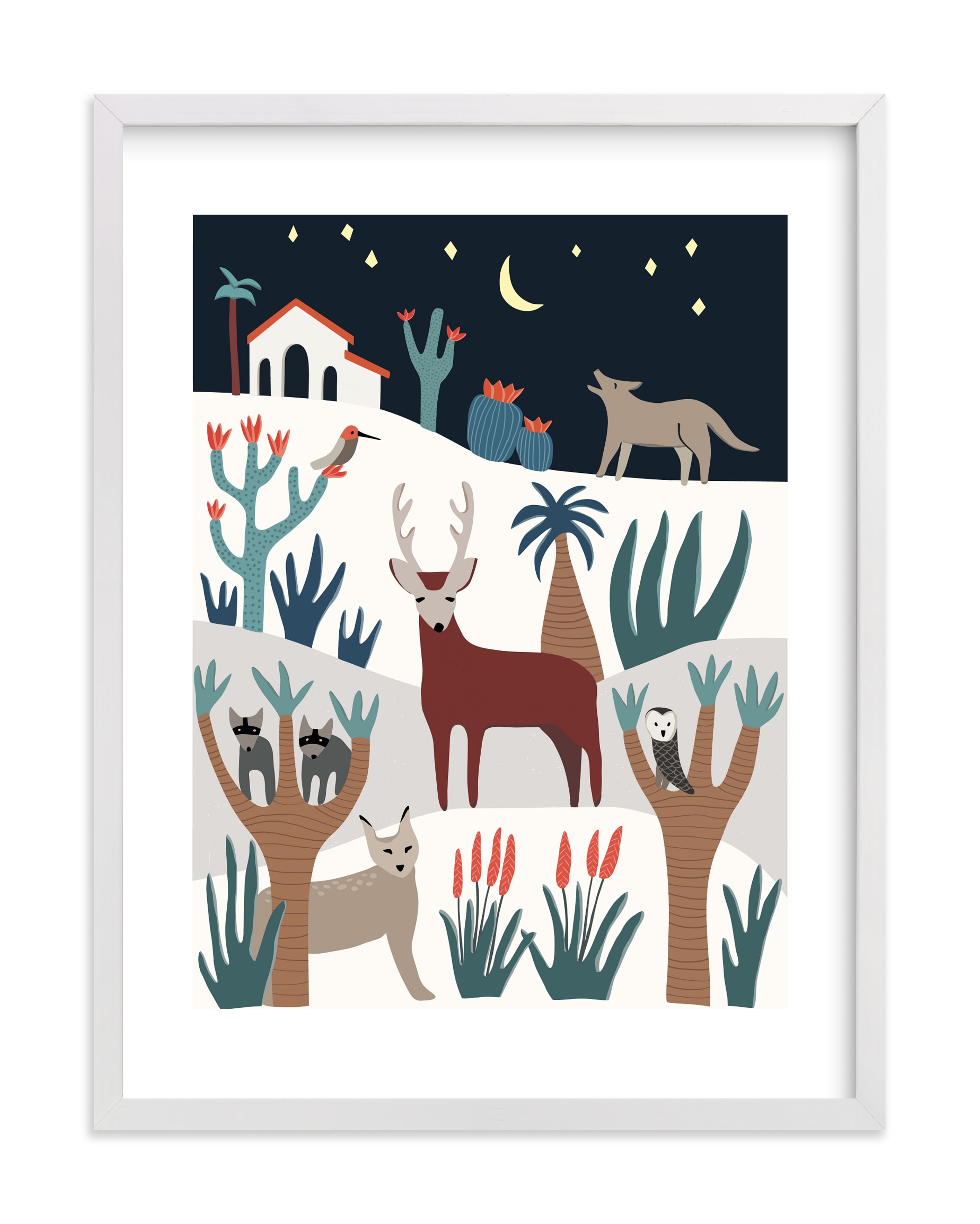 """It's a wild life!"" - Limited Edition Art Print by Sophiequi in beautiful frame options and a variety of sizes."