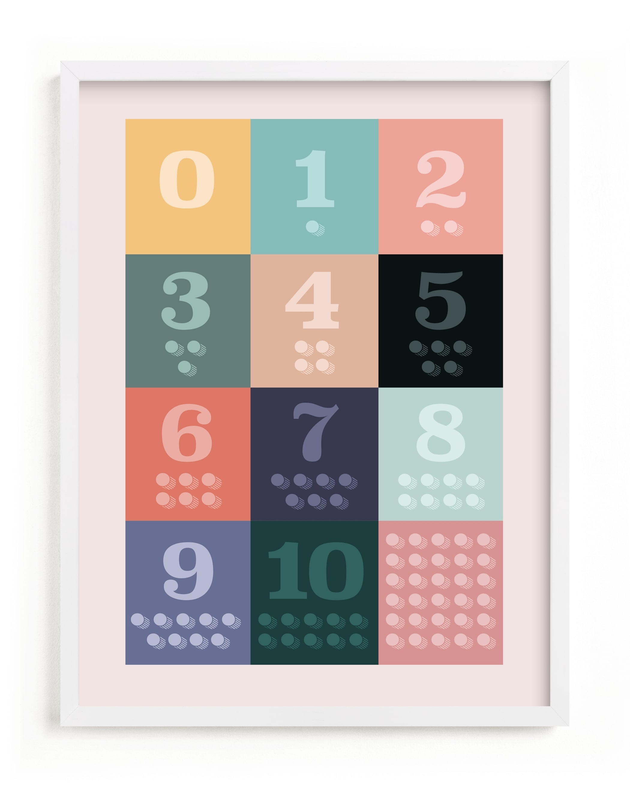 1, 2 , 3, Oh I See! Count Along Numbers Children's Art Print