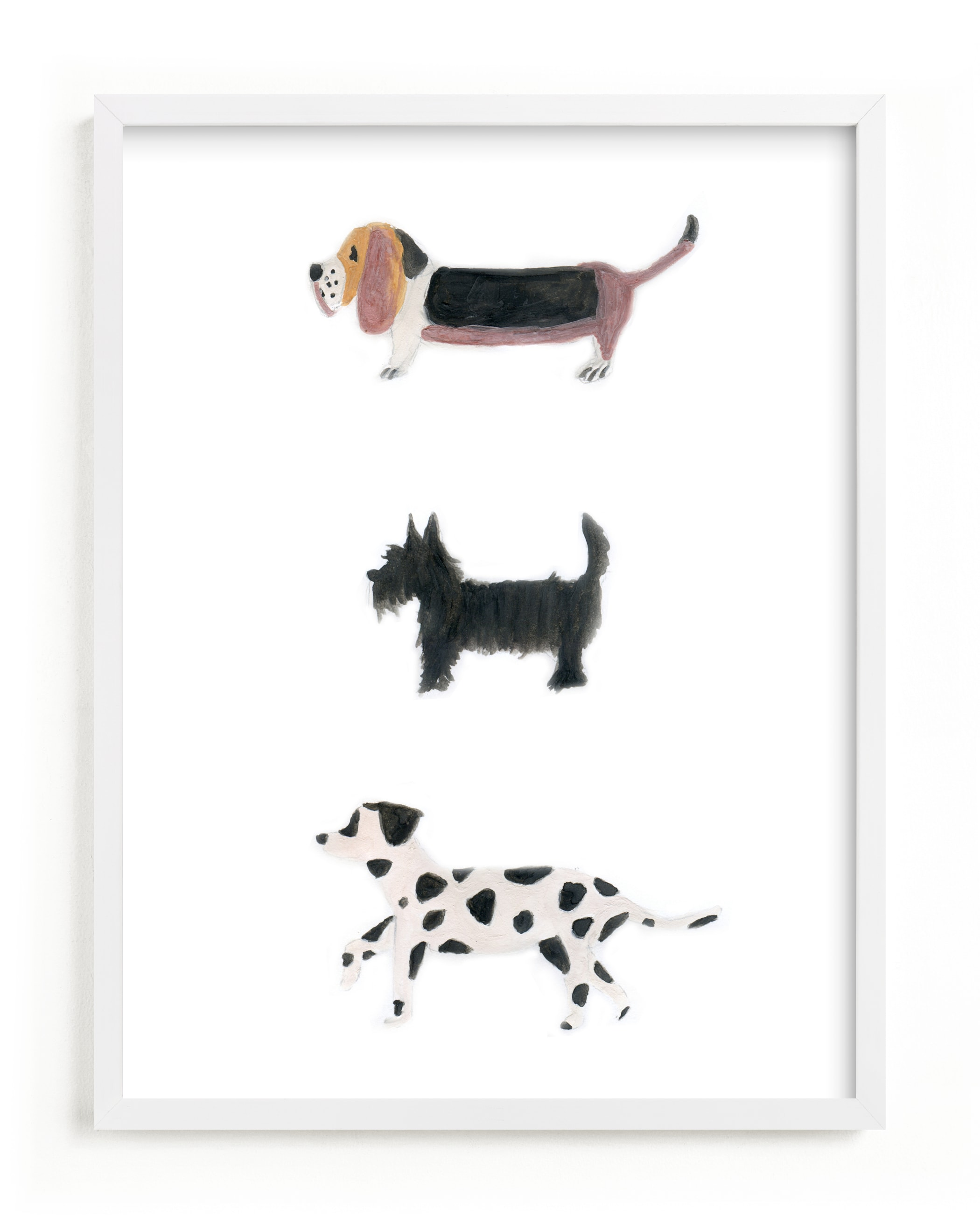 """""""it's a dog's world"""" - Limited Edition Art Print by Sheila Sunaryo in beautiful frame options and a variety of sizes."""