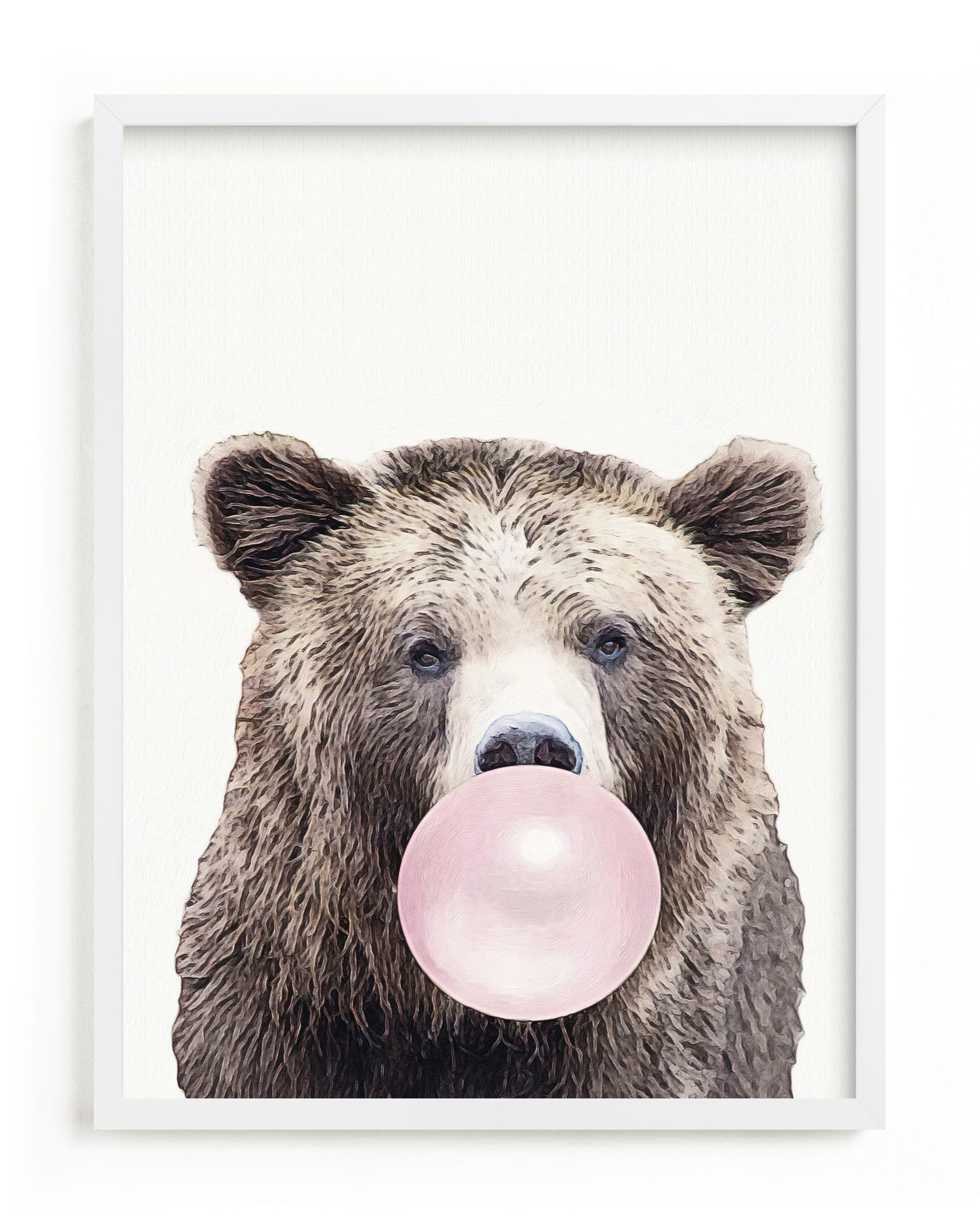 """""""Bubblegum: Bear"""" - Limited Edition Art Print by Maja Cunningham in beautiful frame options and a variety of sizes."""