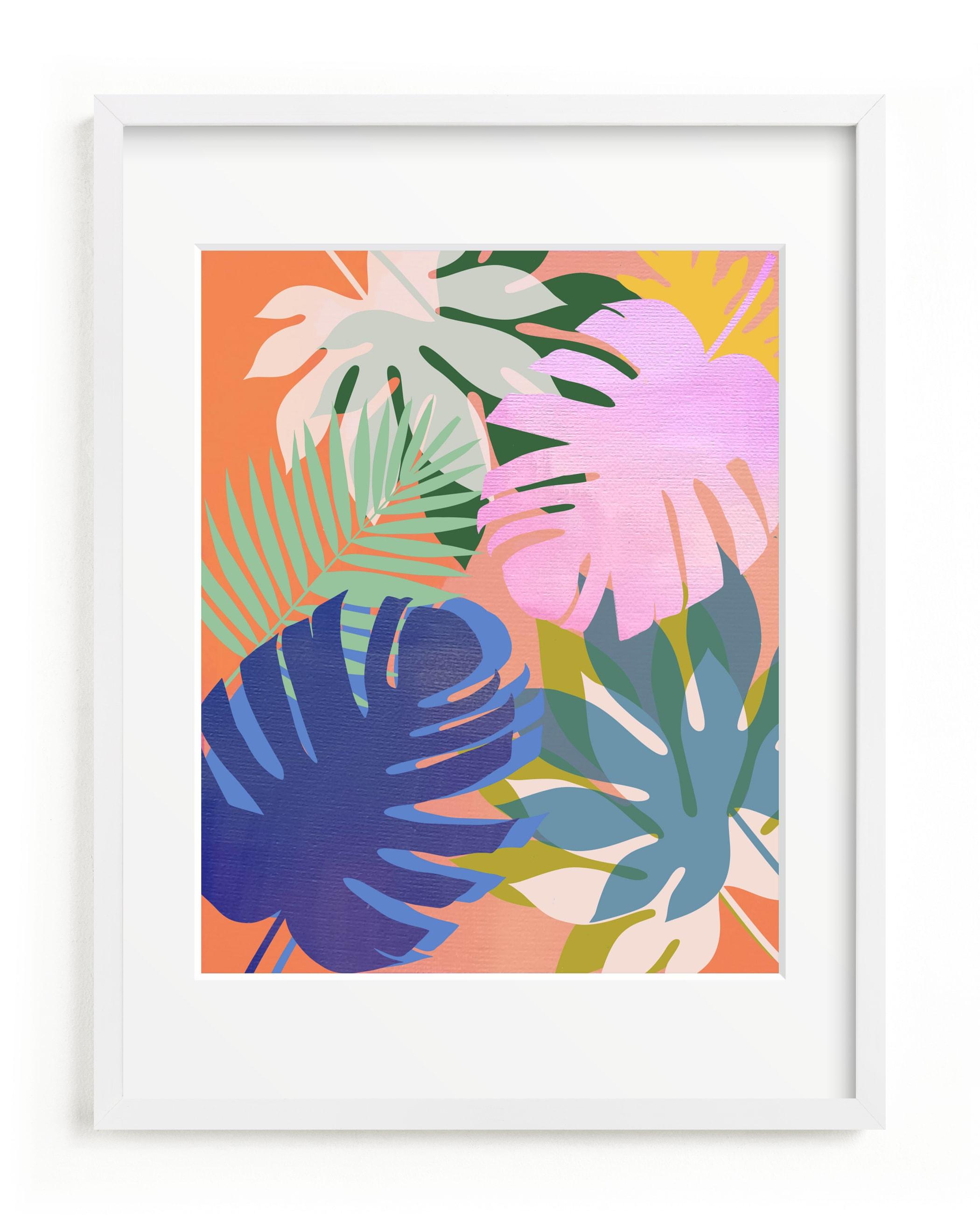 tropical forest Children's Art Print
