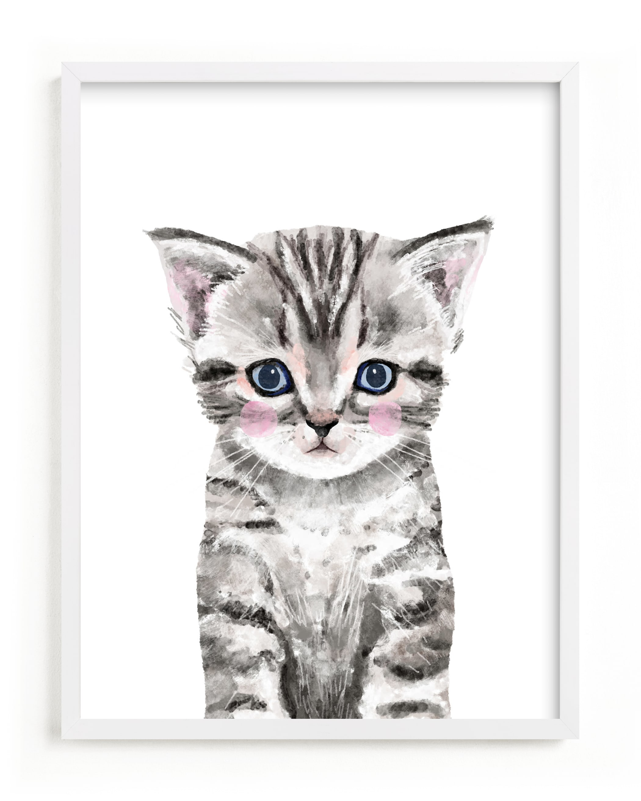"""Baby Kitten"" by Cass Loh in beautiful frame options and a variety of sizes."