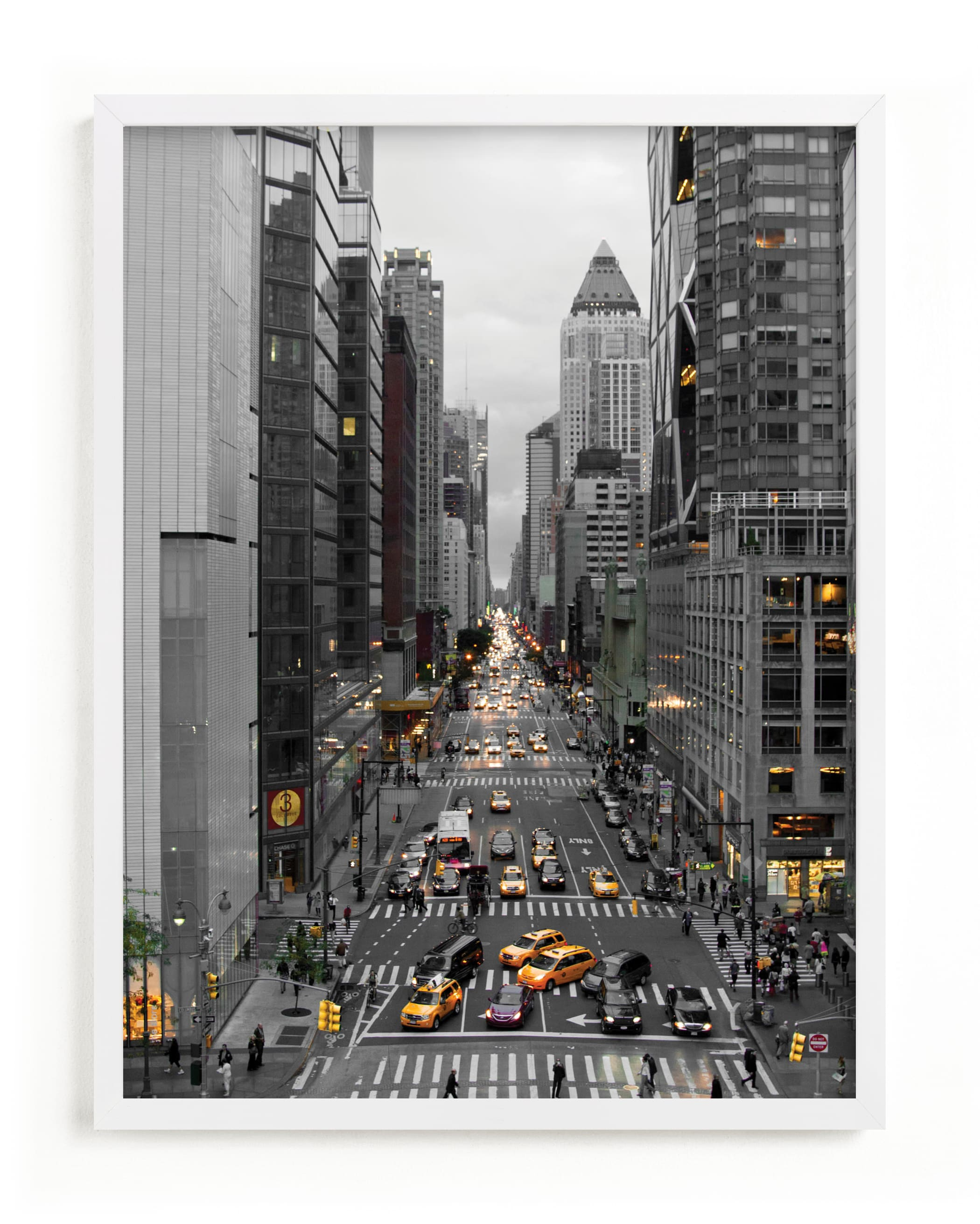 """""""Down onto 8th Avenue"""" - Art Print by Van Tsao in beautiful frame options and a variety of sizes."""