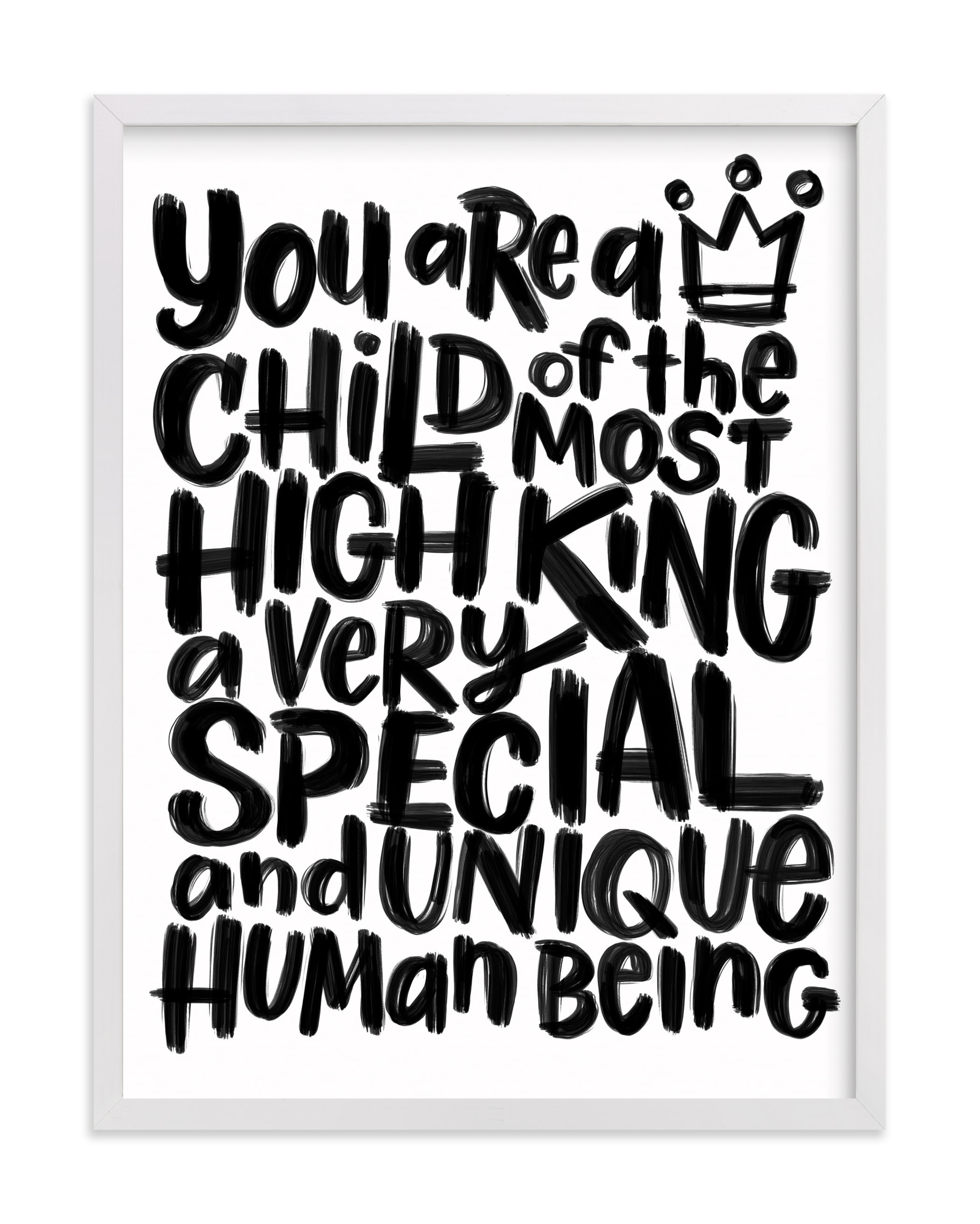 """""""Child of the Most High King"""" - Art Print by Laura Bolter in beautiful frame options and a variety of sizes."""