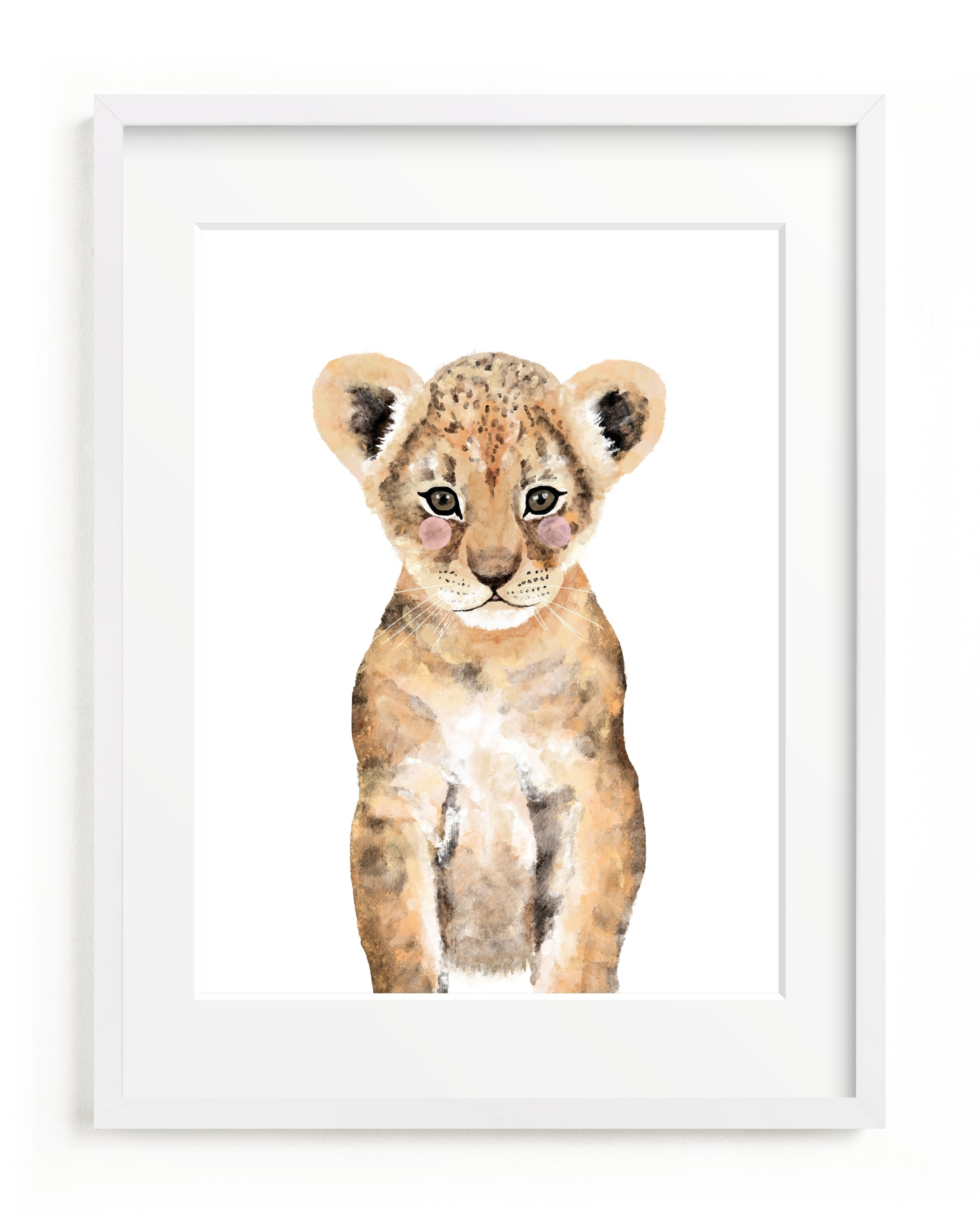 Baby Animal Lion Self-Launch Children's Art Print