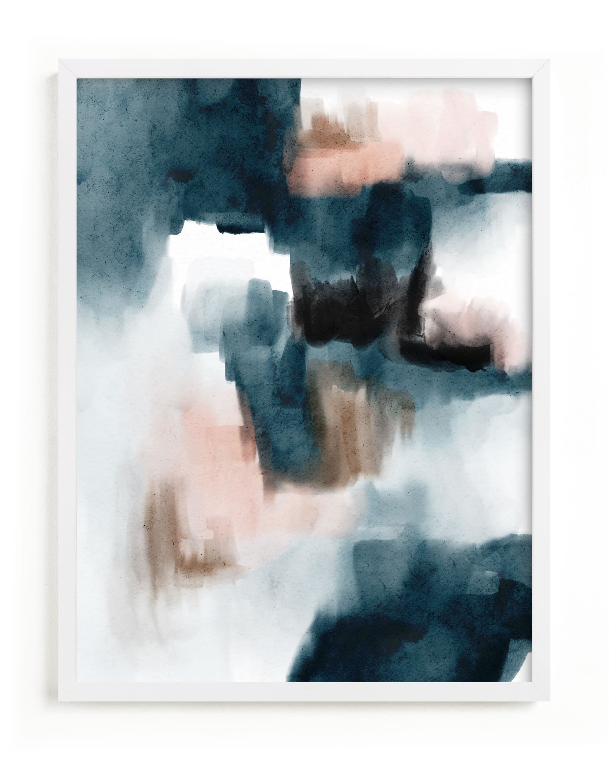 """""""Indigo Caves"""" by Britt Mills in beautiful frame options and a variety of sizes."""