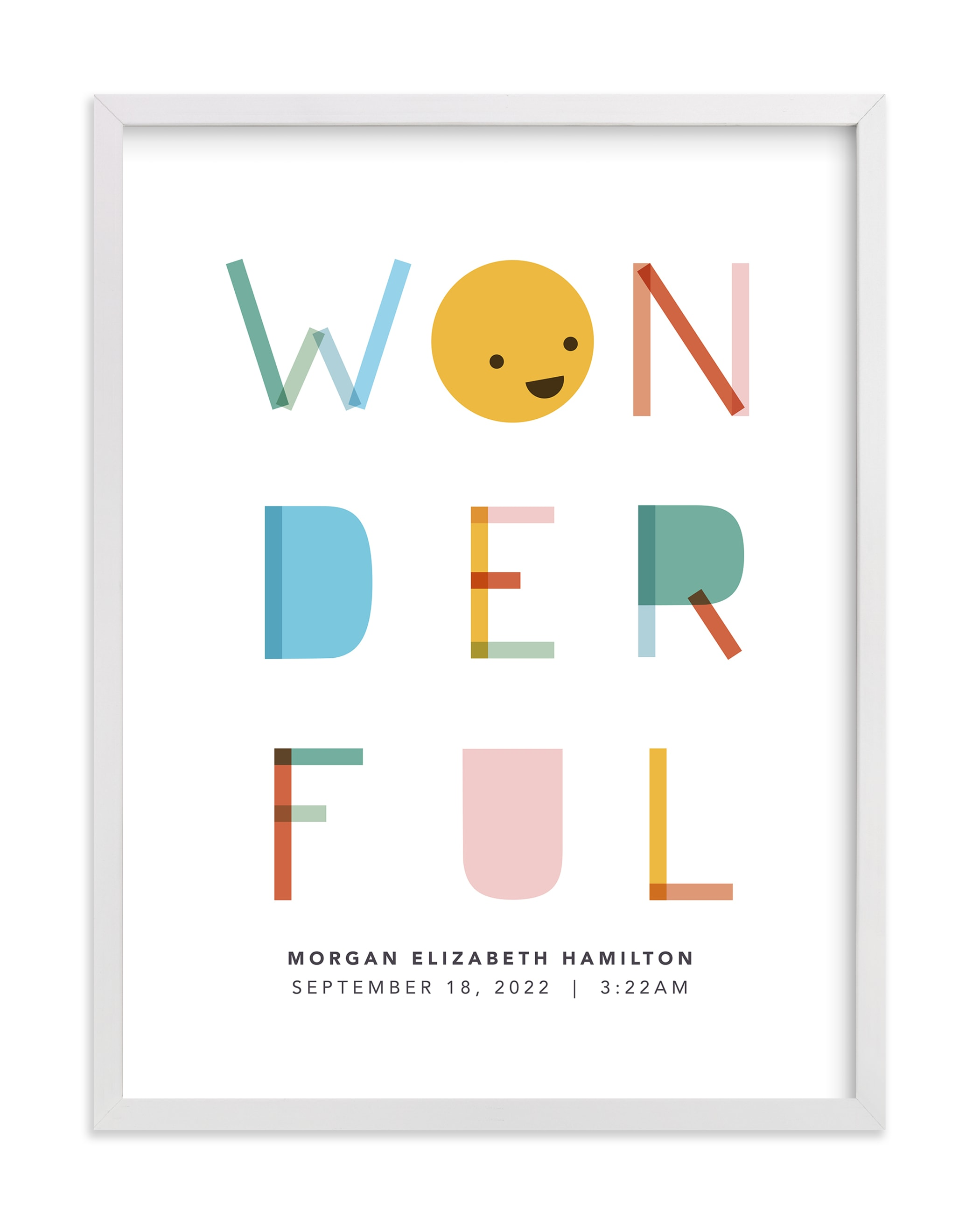 """""""All kinds of wonderful"""" - Nursery Custom Art Print by Caitlin Considine in beautiful frame options and a variety of sizes."""